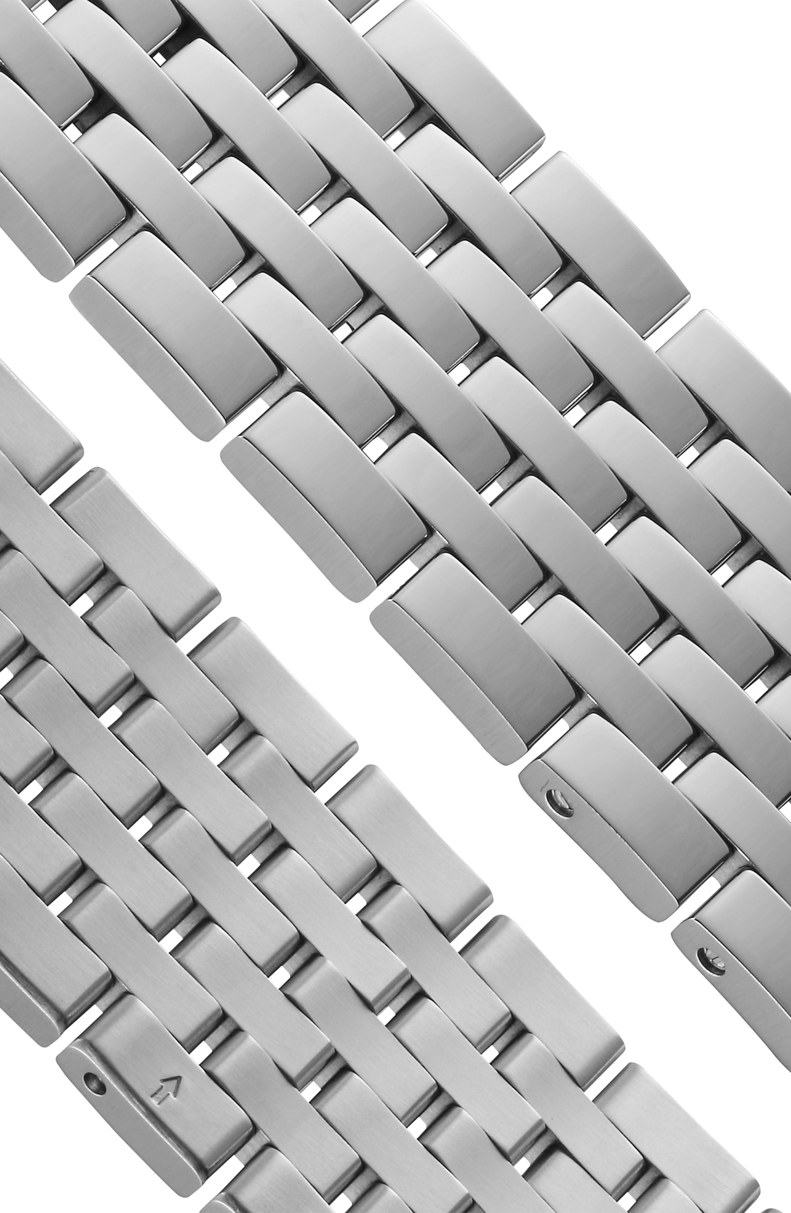 Tradition Bracelet Watch, 42mm,                             Alternate thumbnail 5, color,                             SILVER/ GREY/ SILVER