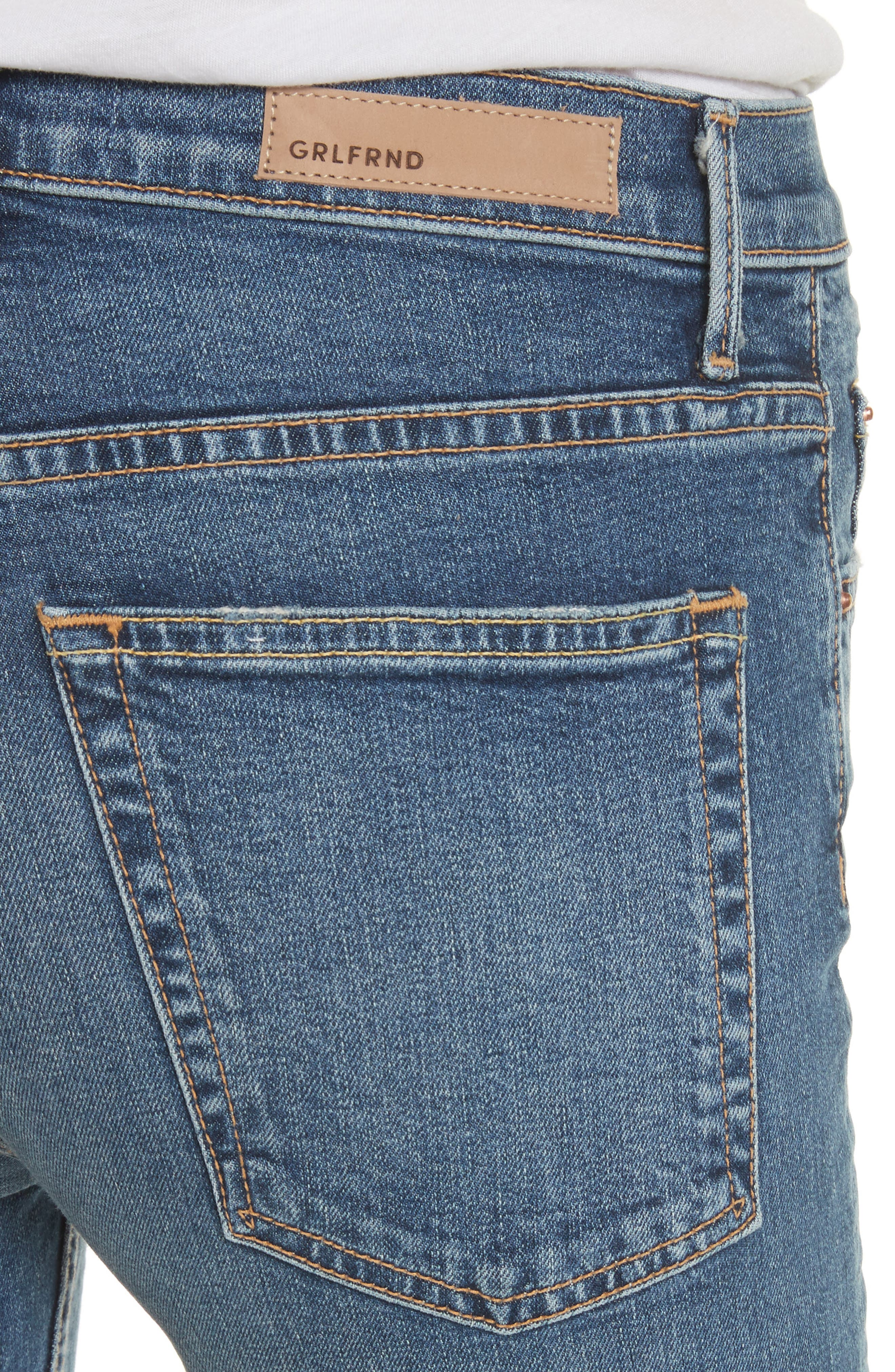 Kendall Super Stretch High Waist Skinny Jeans,                             Alternate thumbnail 4, color,                             NO MORE TEARS