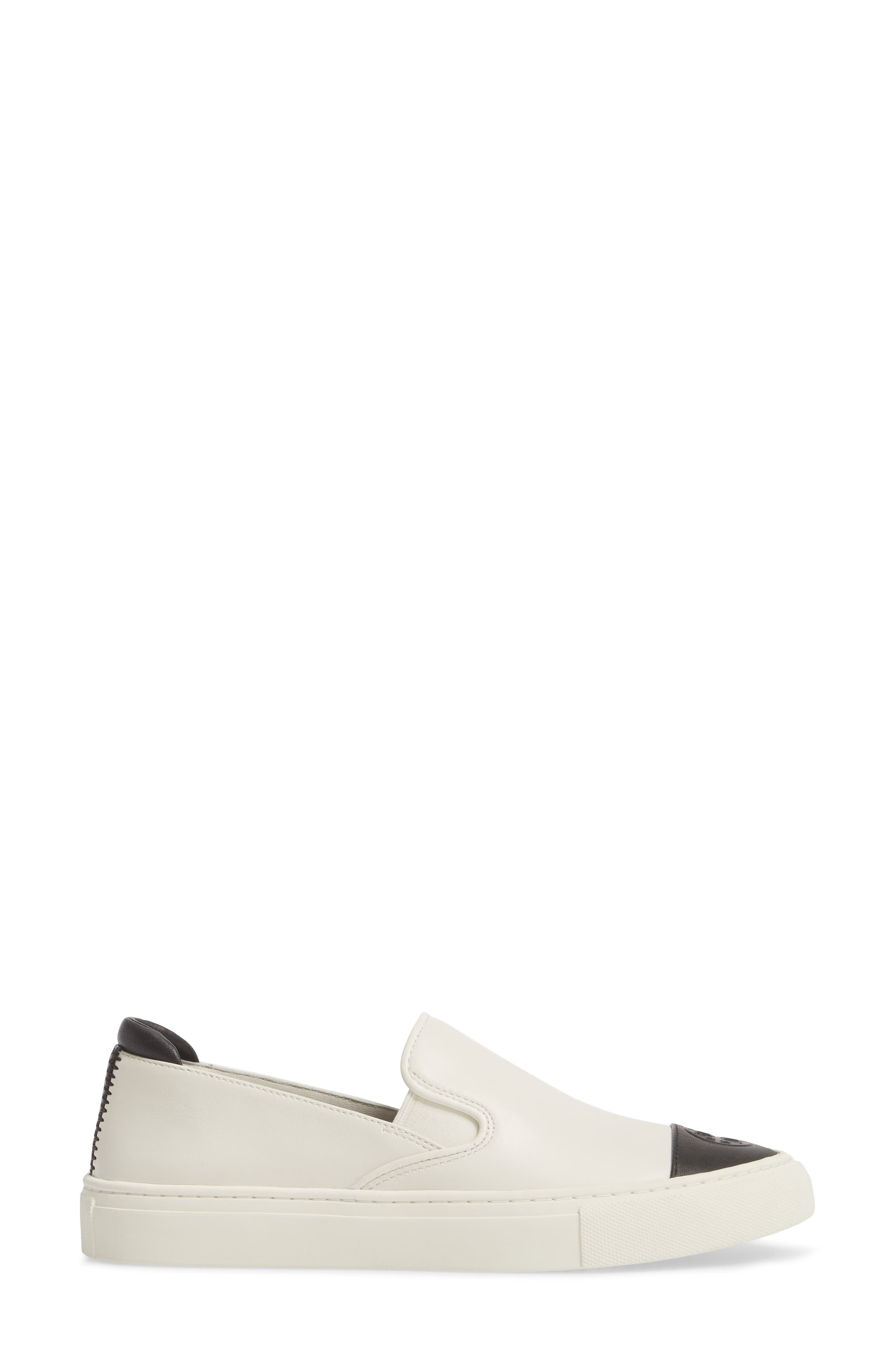 Colorblock Slip-On Sneaker,                             Alternate thumbnail 3, color,                             PERFECT IVORY/ PERFECT BLACK