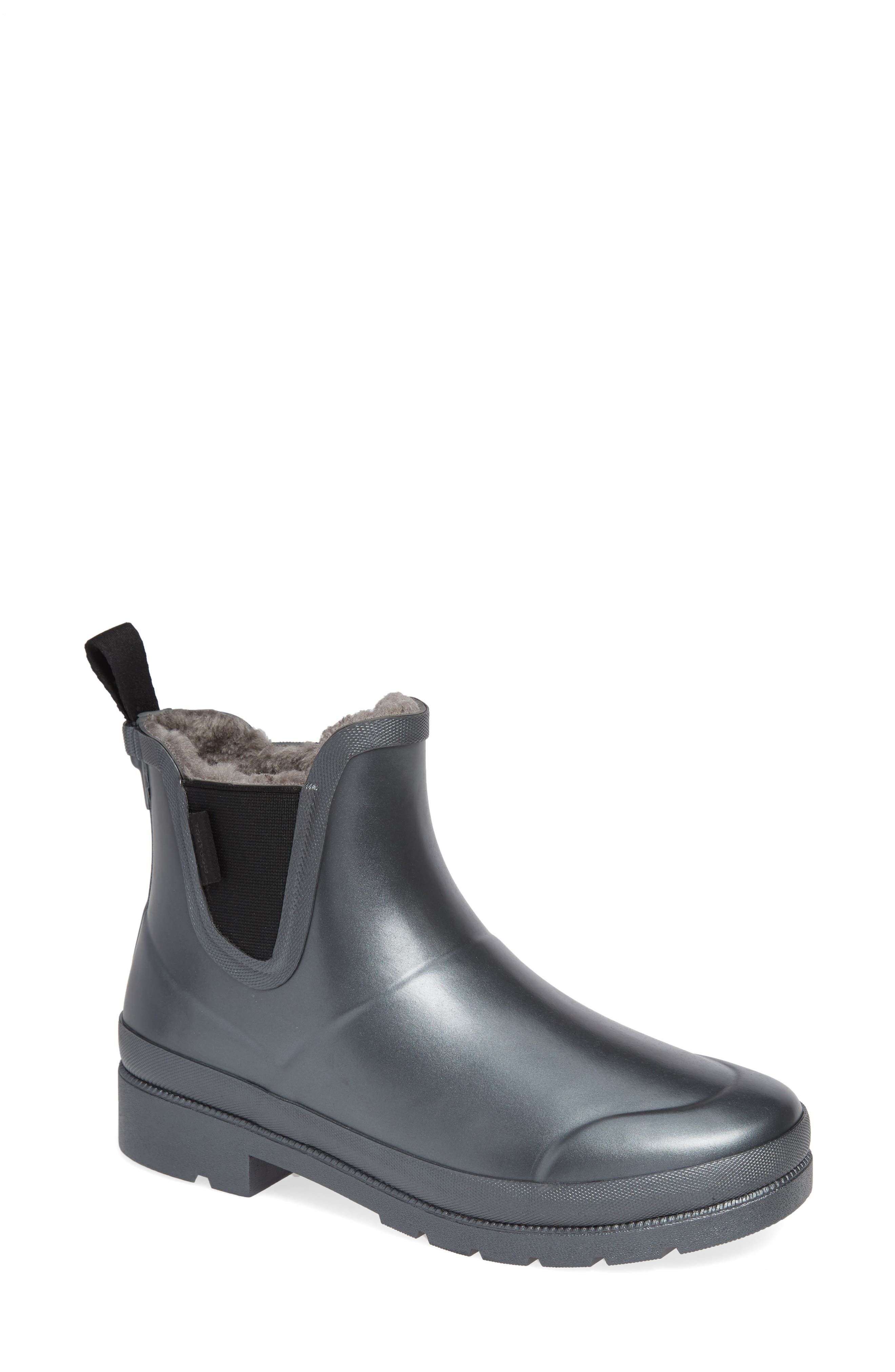 Chelsea Rain Boot,                         Main,                         color, PEWTER