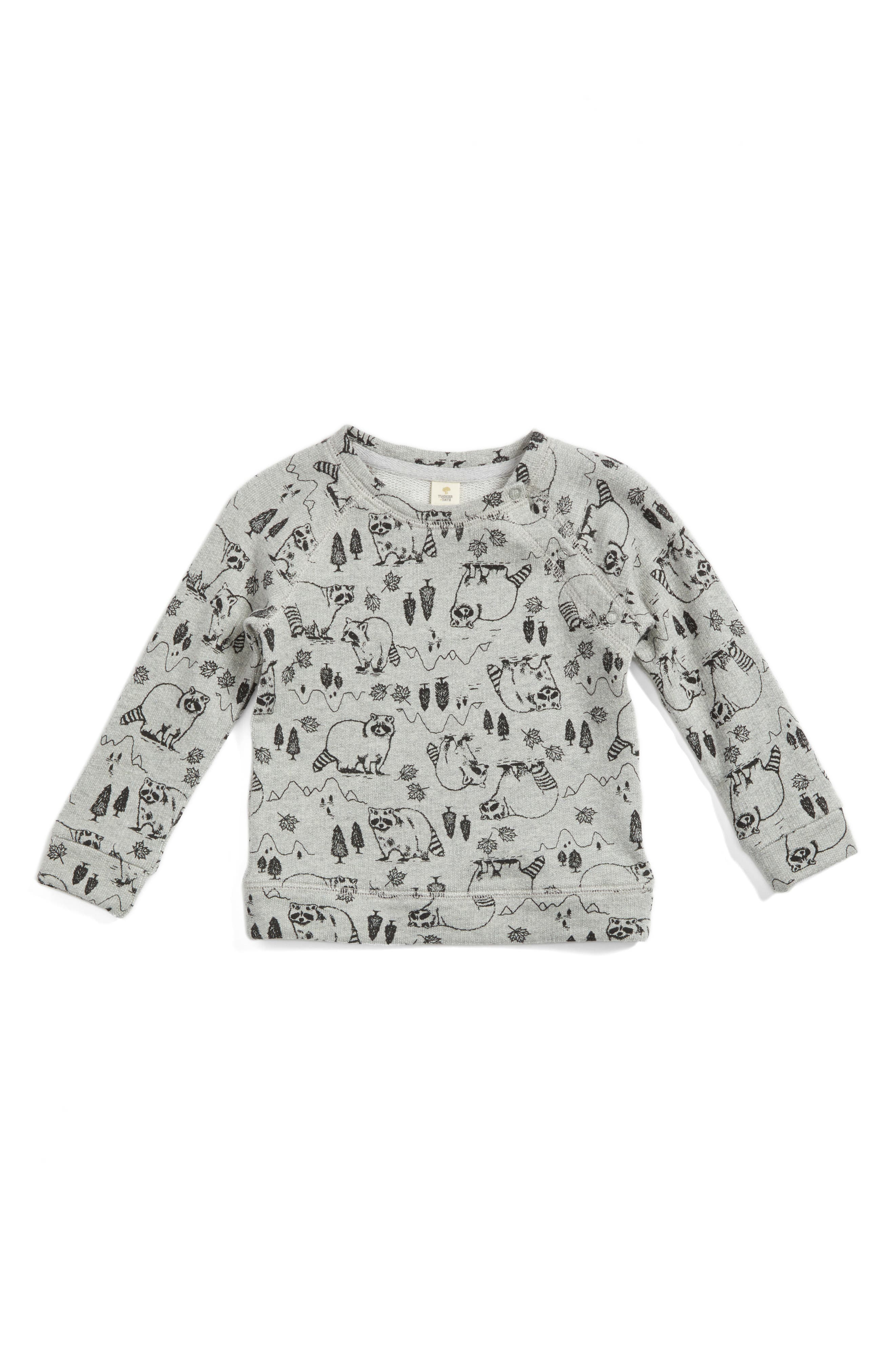 Woodland Raccoon Print Top,                         Main,                         color, 050