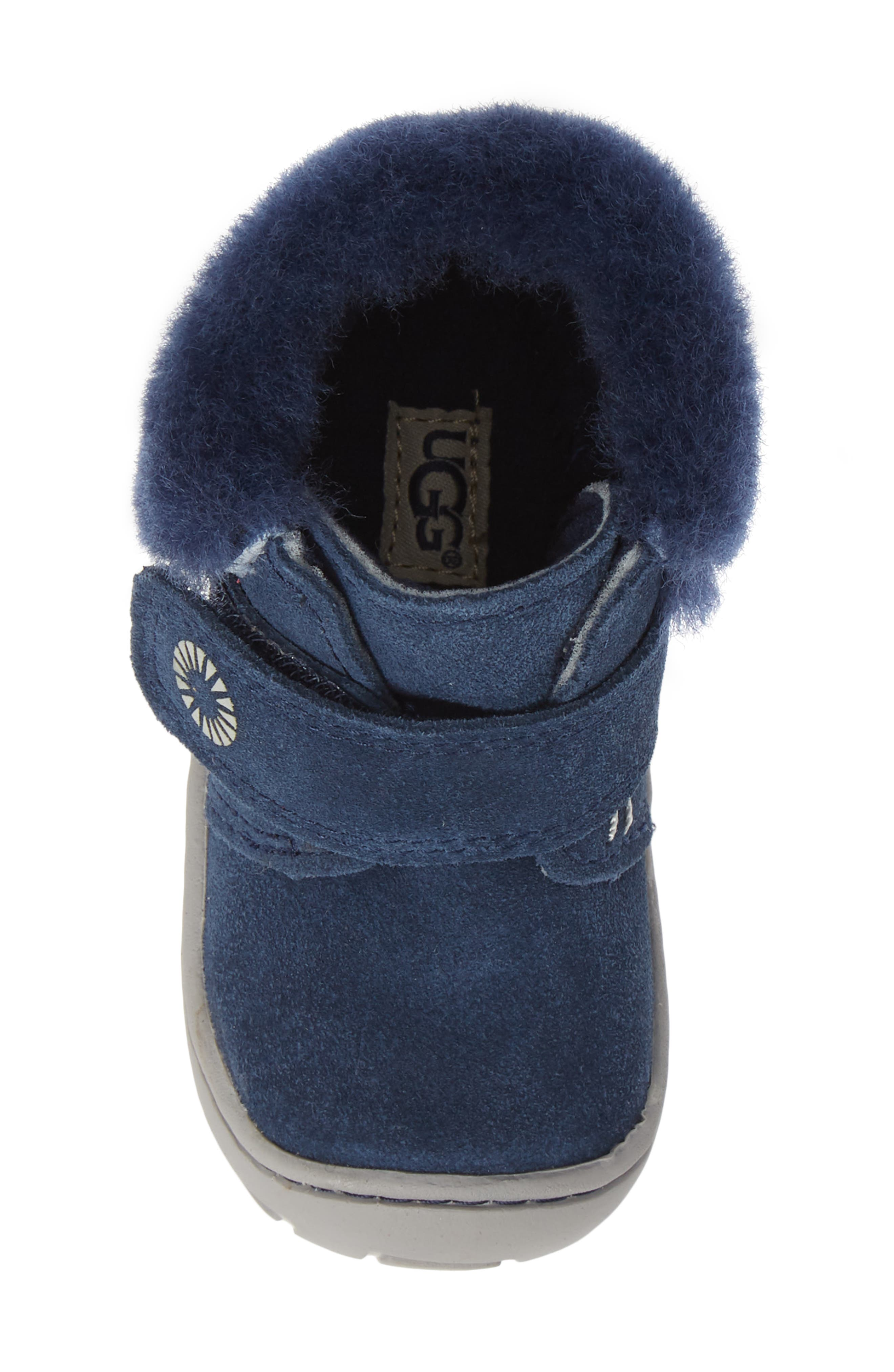 Jorgen Genuine Shearling Bootie,                             Alternate thumbnail 5, color,                             NEW NAVY