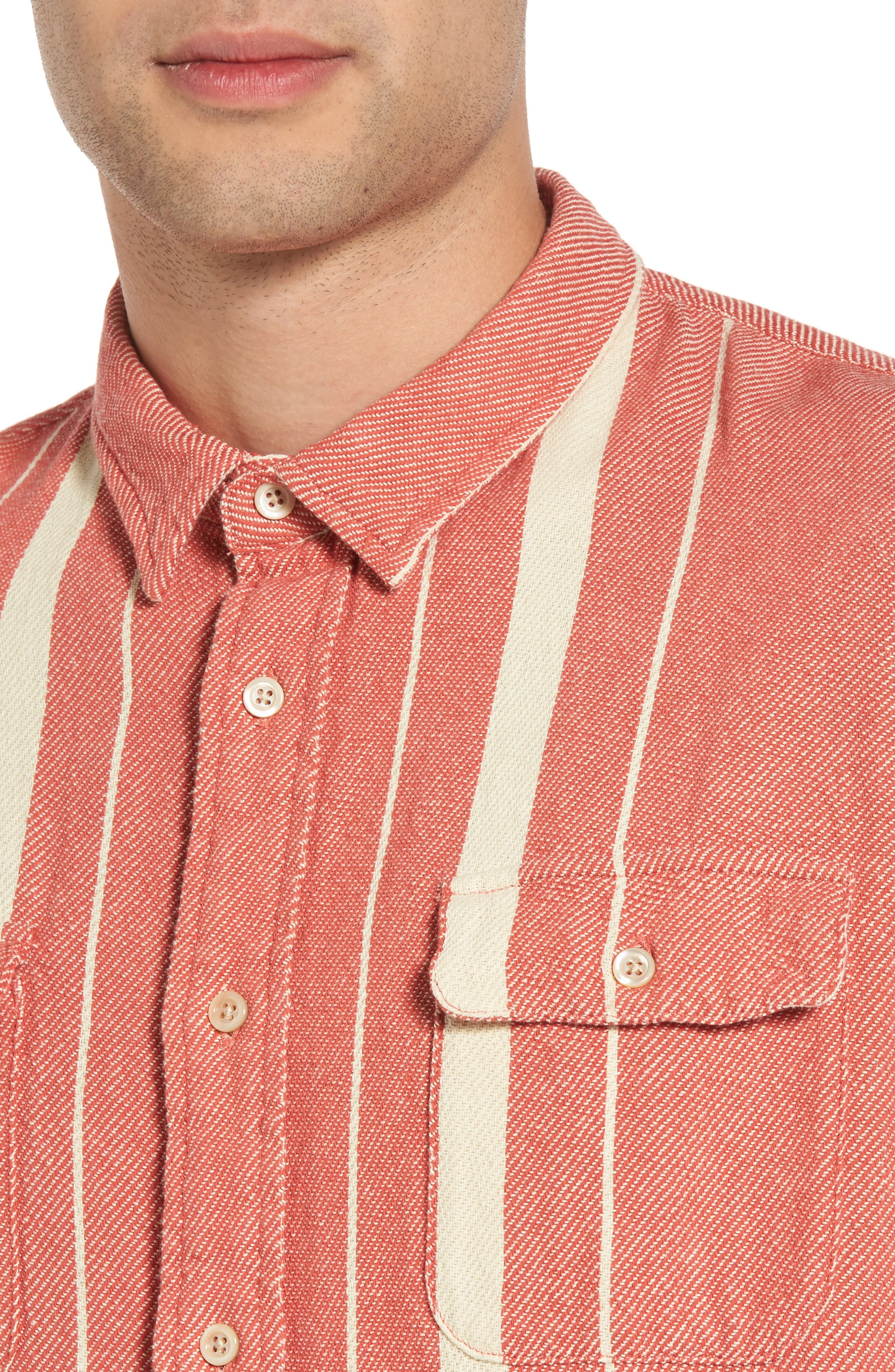Shorthorn Plaid Woven Shirt,                             Alternate thumbnail 4, color,                             600