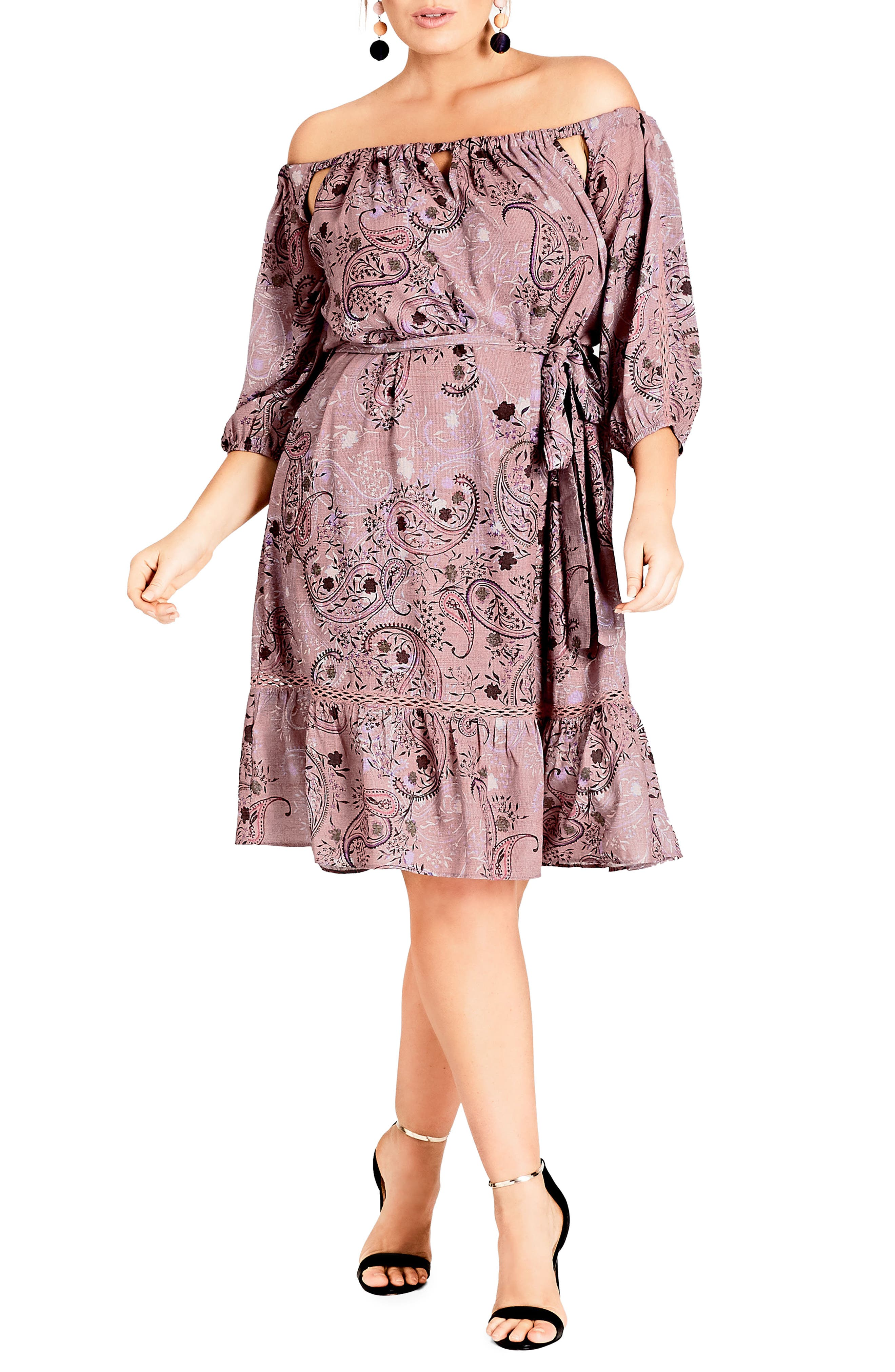 Luxe Paisley Dress,                         Main,                         color, LUXE PAISLEY