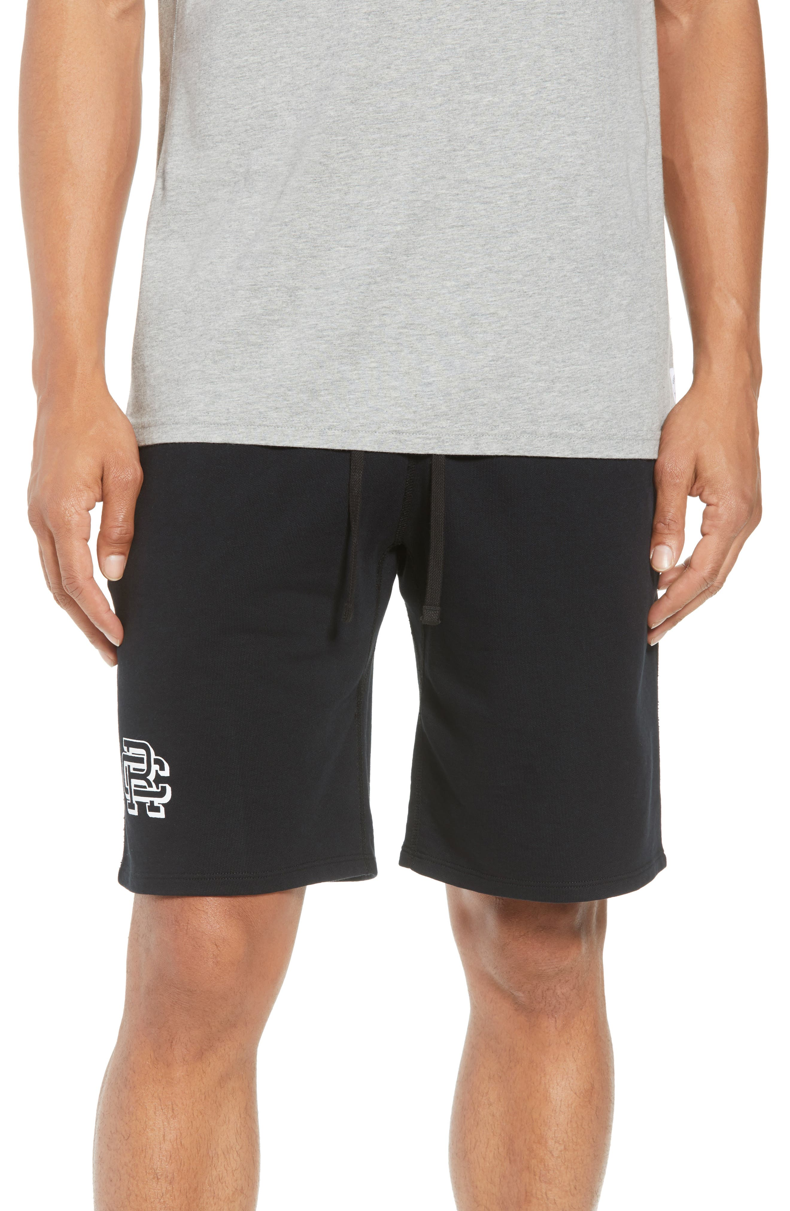 Shorts Lightweight Classic Fit Knit Shorts,                         Main,                         color, BLACK