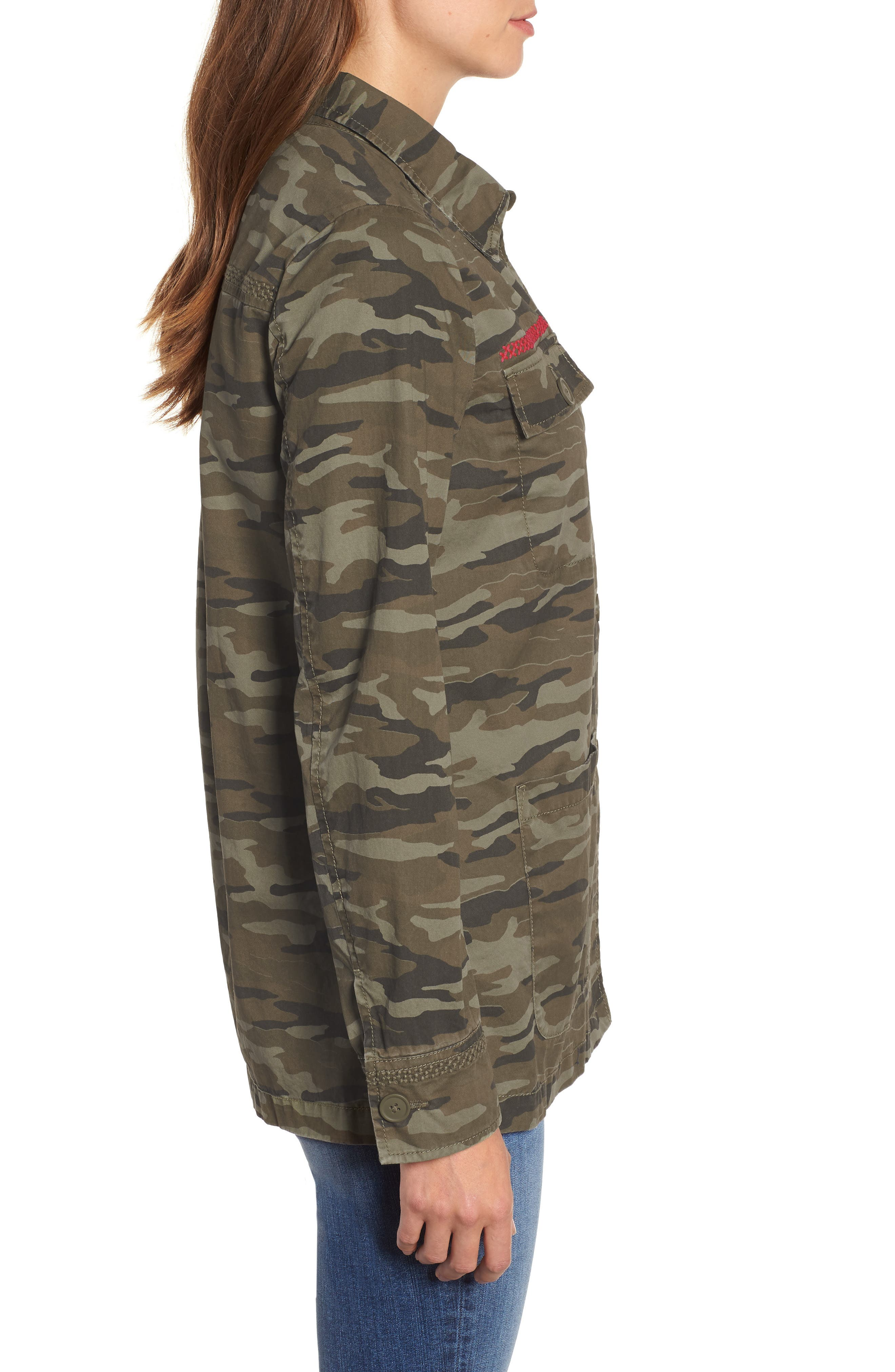 Utility Jacket,                             Alternate thumbnail 3, color,                             OLIVE CAMO PRINT