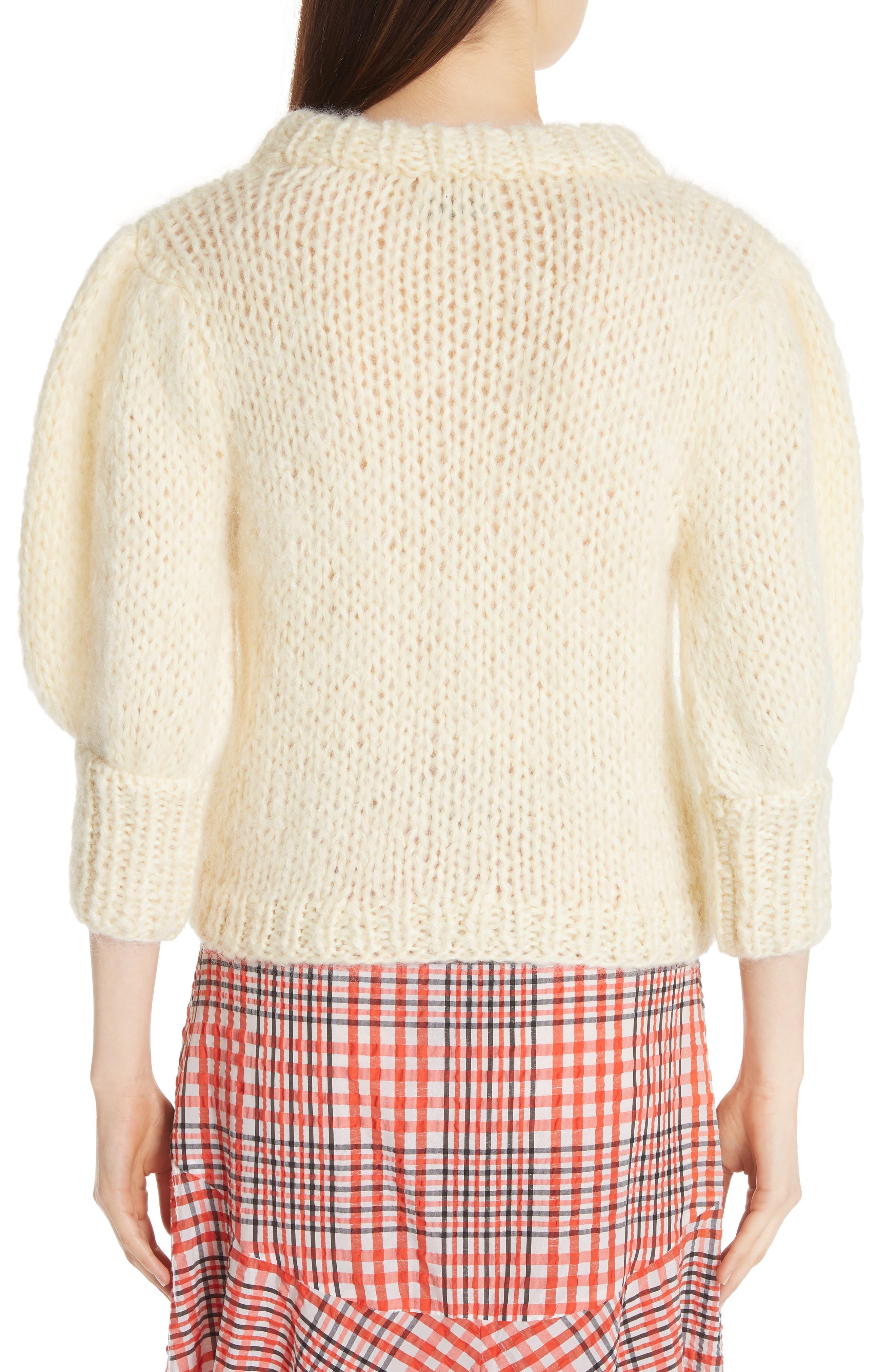Juilliard Mohair & Wool Puff Sleeve Sweater,                             Alternate thumbnail 2, color,                             900