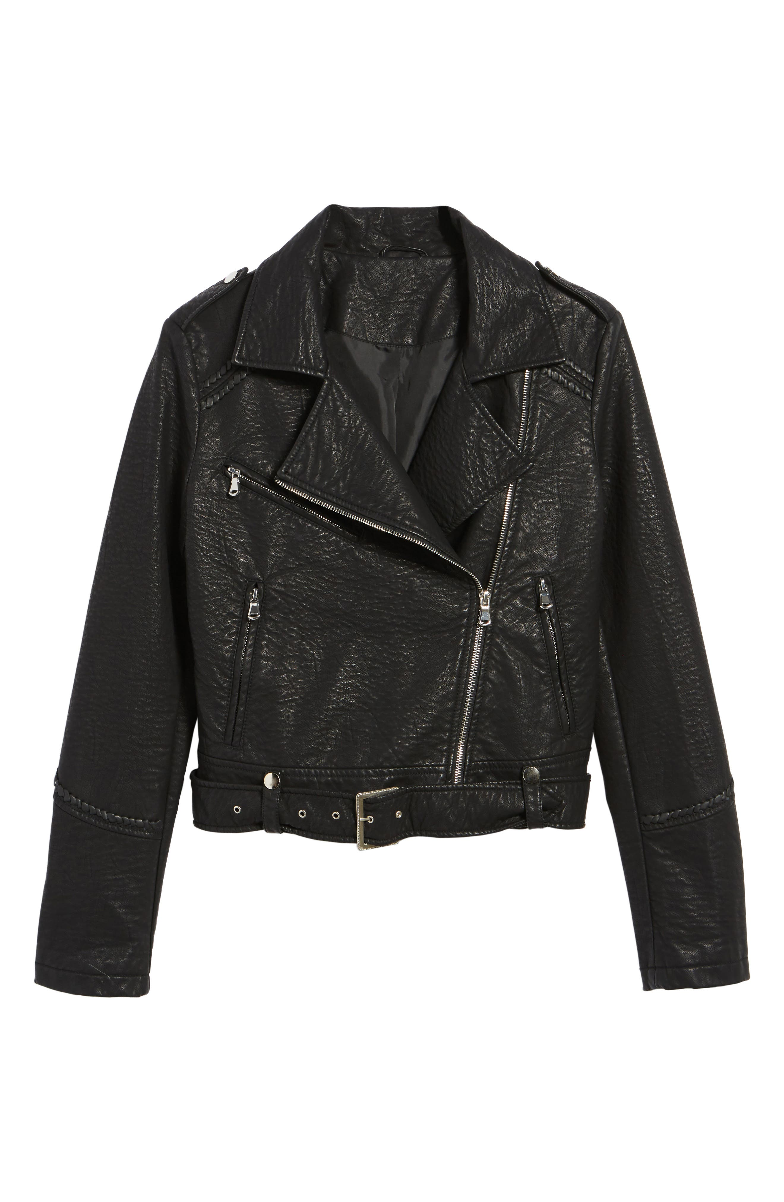 Furthermore Faux Leather Jacket,                             Alternate thumbnail 2, color,