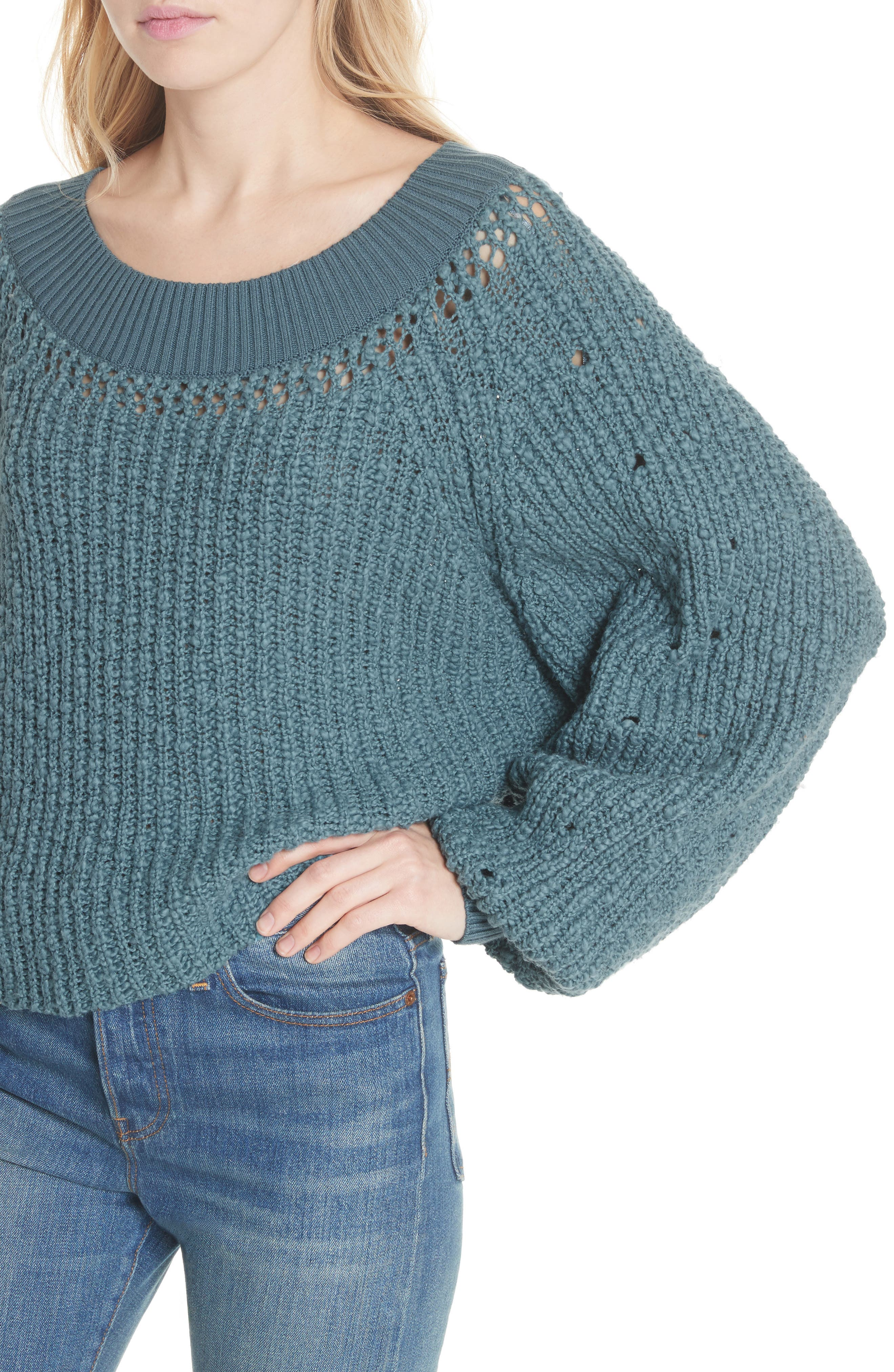 Pandora's Boatneck Sweater,                             Alternate thumbnail 14, color,