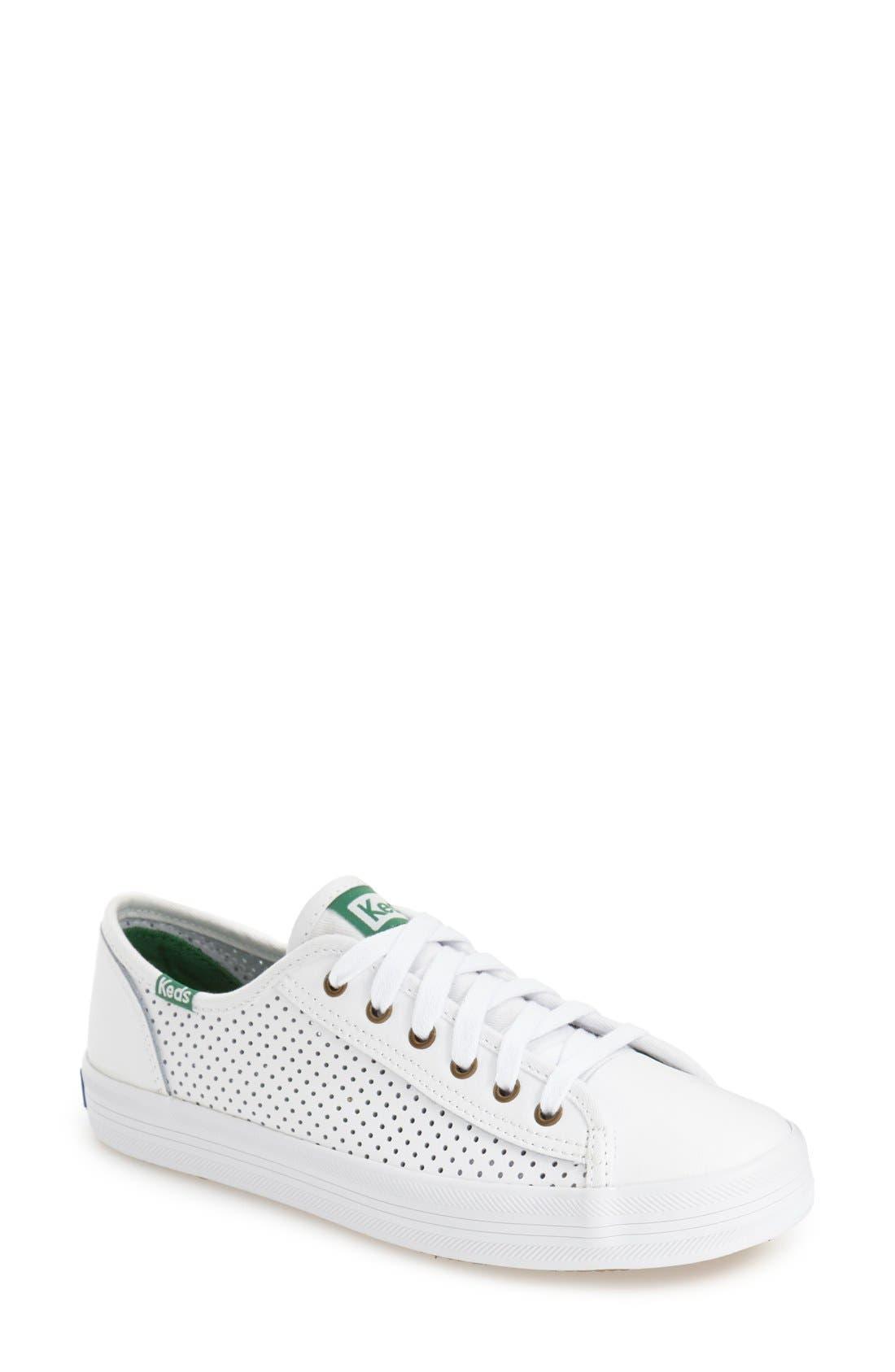KEDS<SUP>®</SUP>,                             'Kickstart' Perforated Sneaker,                             Main thumbnail 1, color,                             100