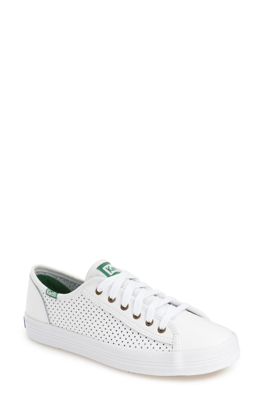 KEDS<SUP>®</SUP> 'Kickstart' Perforated Sneaker, Main, color, 100