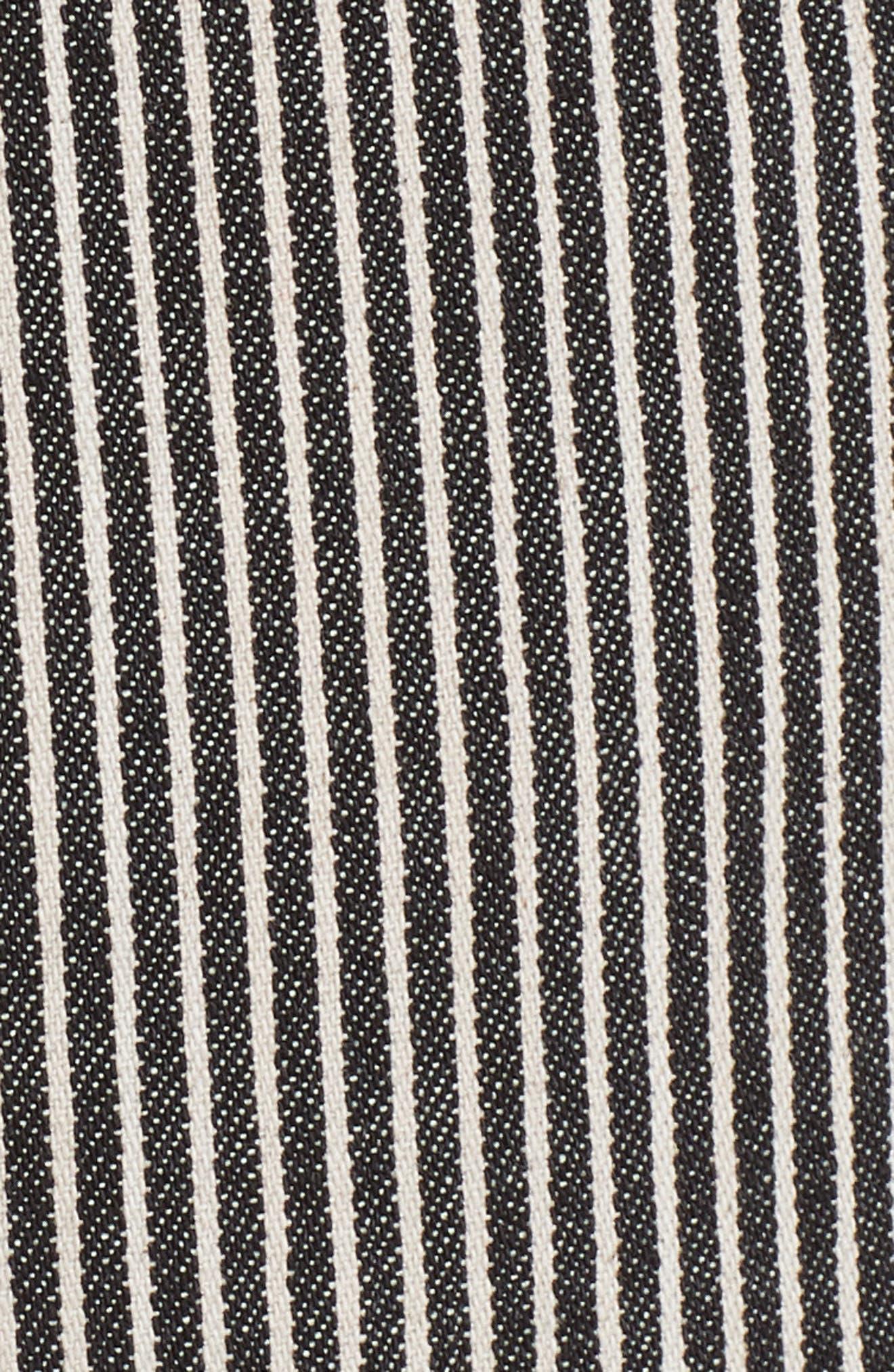 Stripe Crop Pants,                             Alternate thumbnail 5, color,                             001