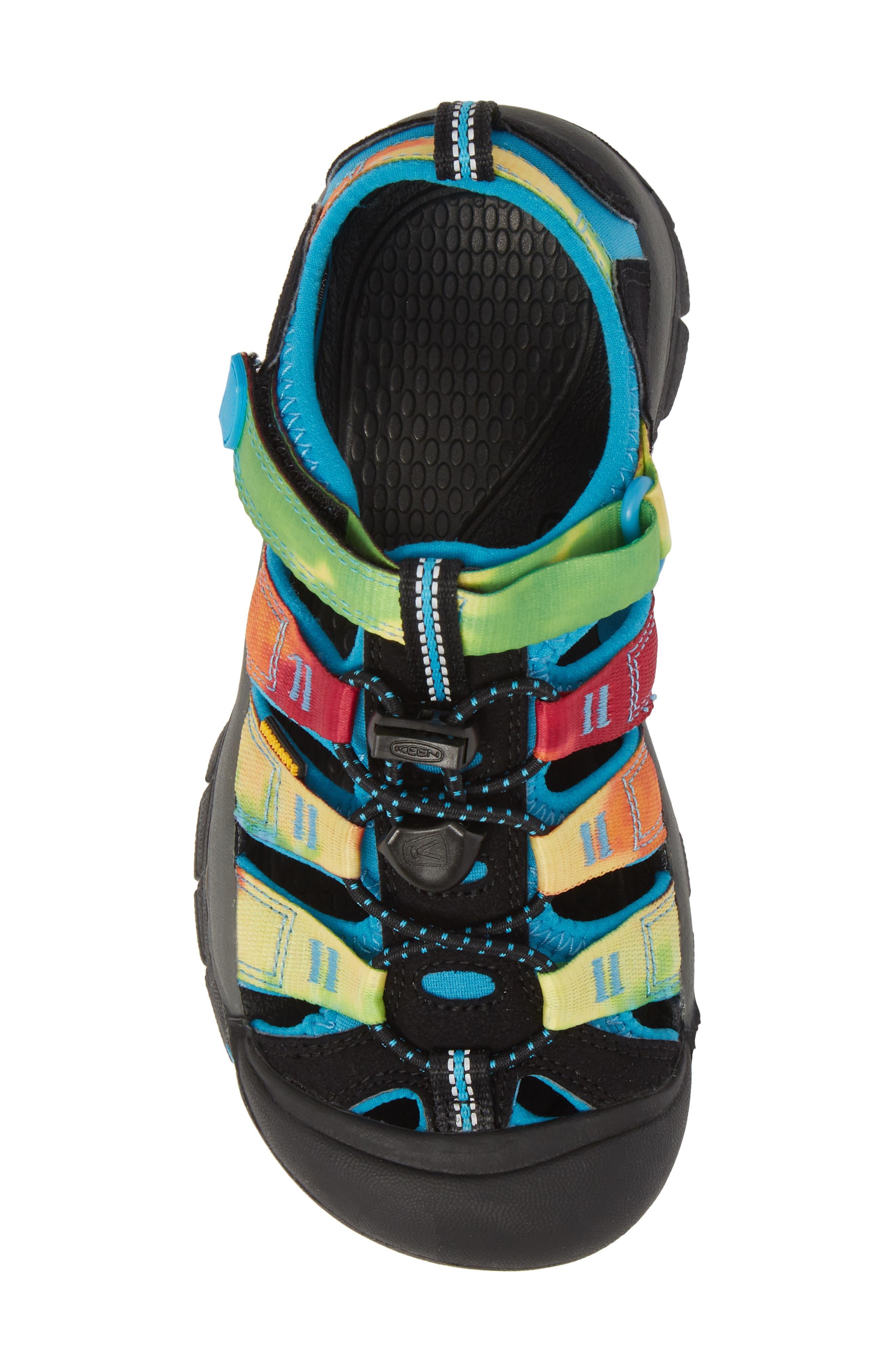 'Newport H2' Water Friendly Sandal,                             Alternate thumbnail 5, color,                             RAINBOW TIE DYE