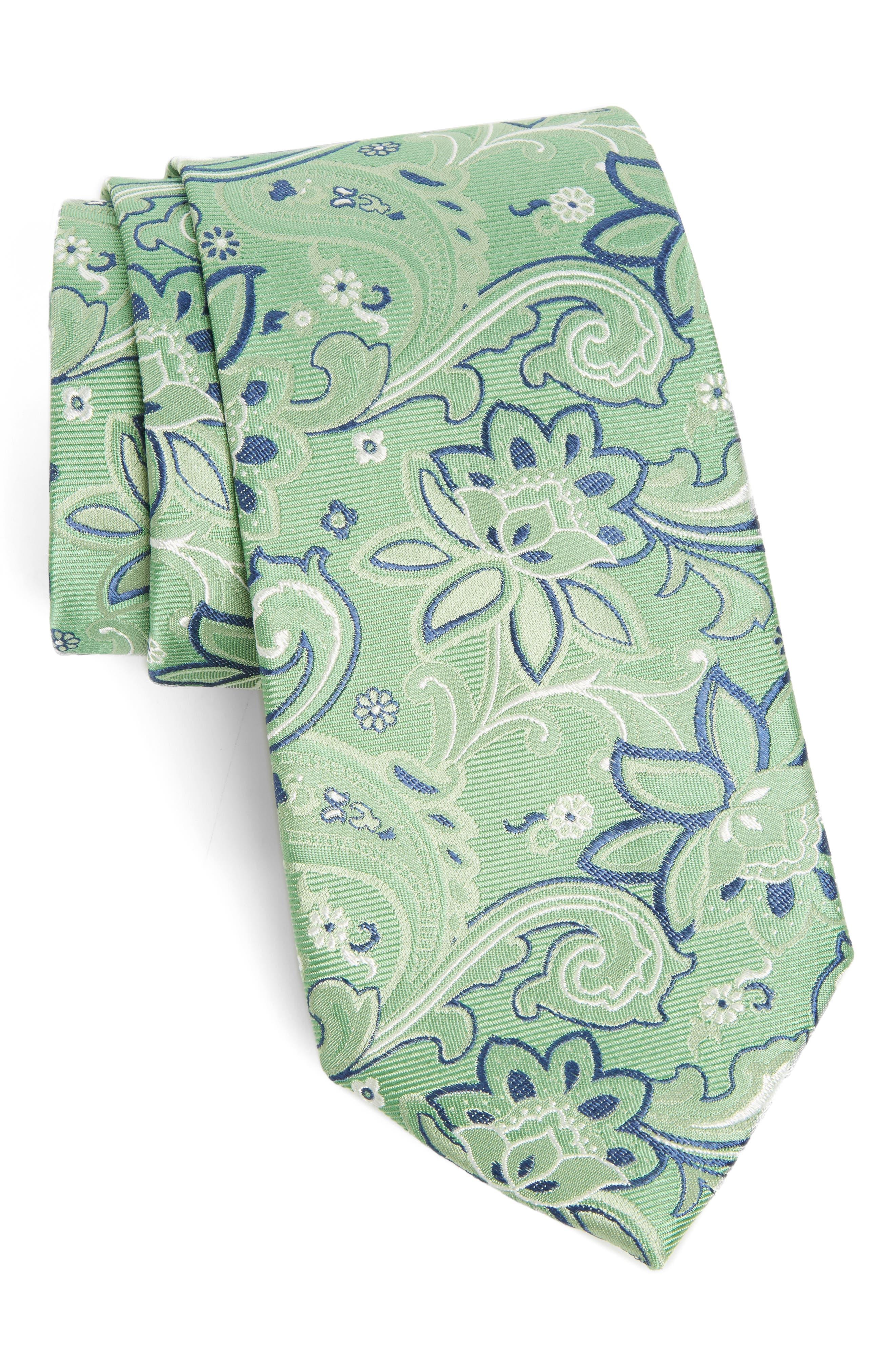 Paisley Silk Tie,                         Main,                         color, 300