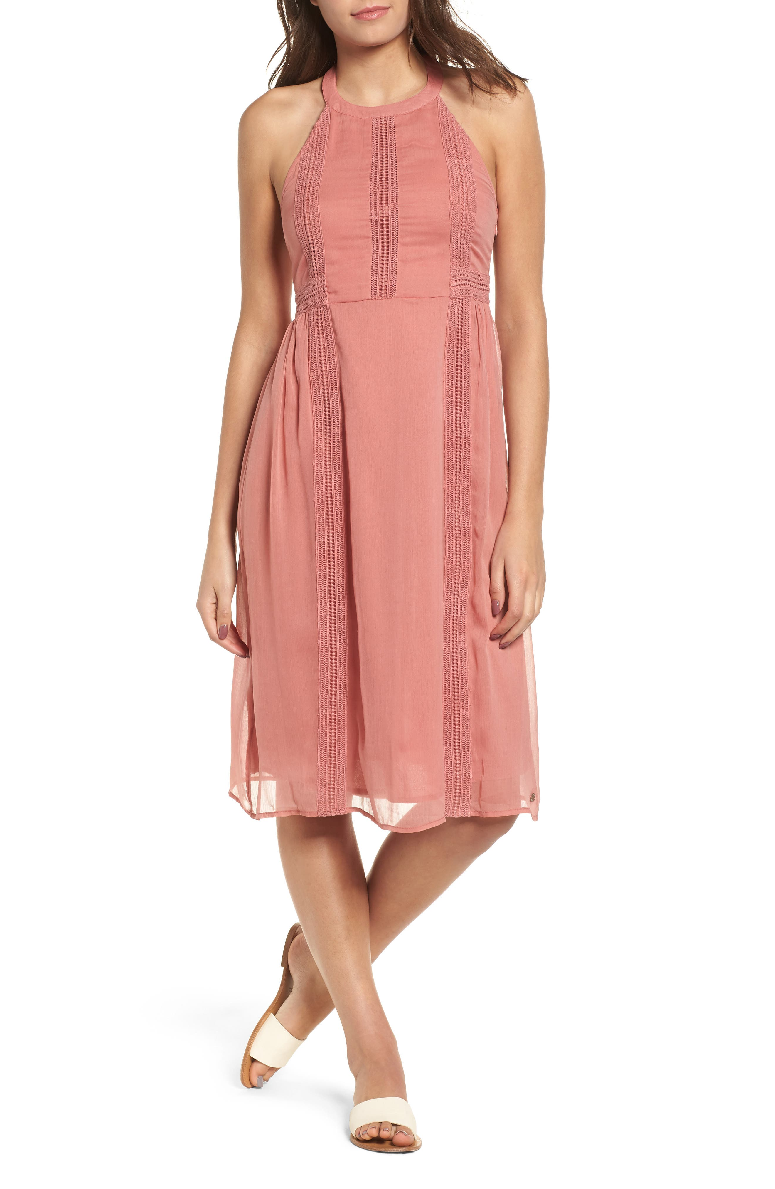 Blurred Landscape Dress,                             Main thumbnail 1, color,                             WITHERED ROSE
