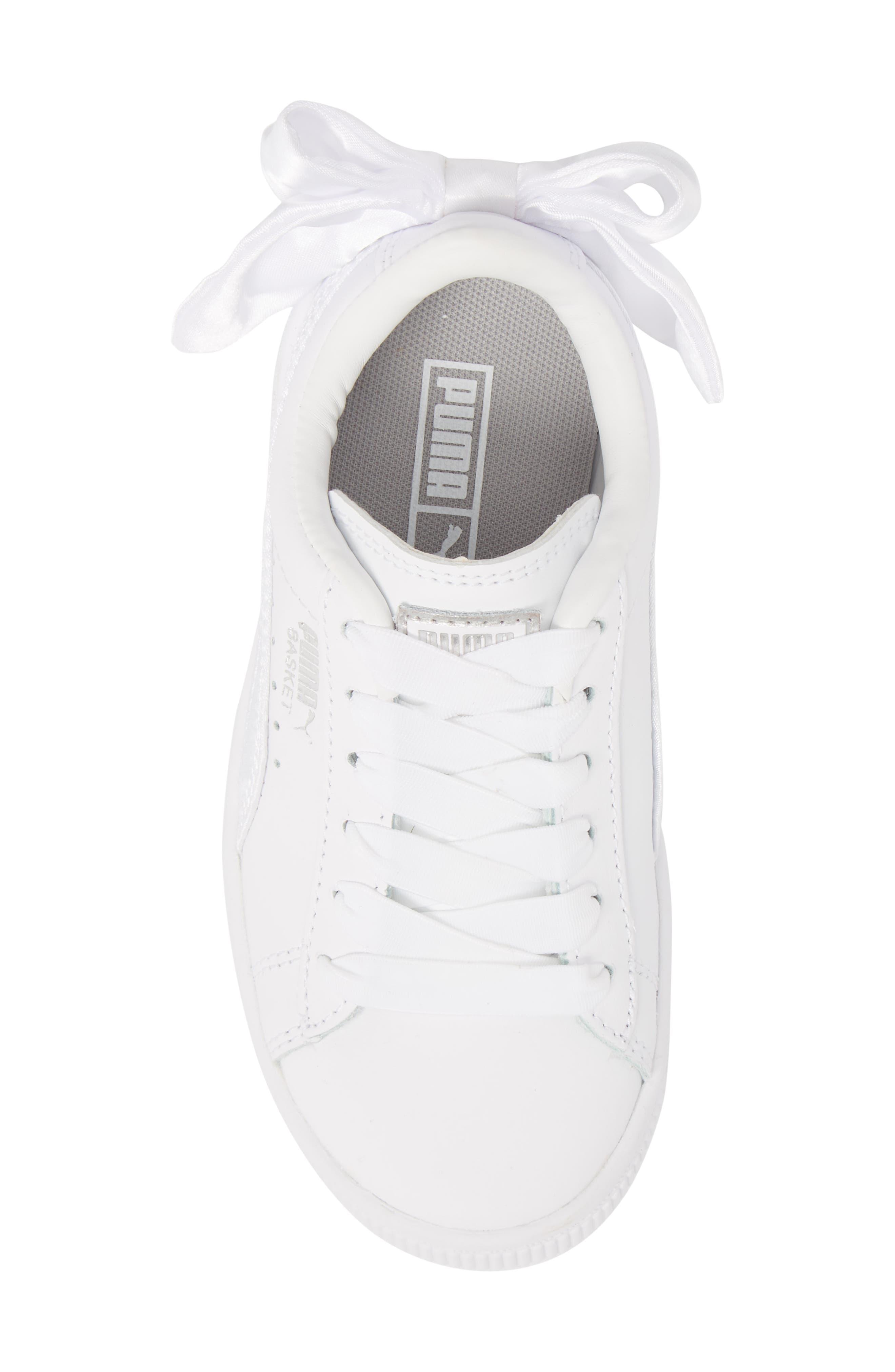 Basket Bow AC Sneaker,                             Alternate thumbnail 5, color,                             100