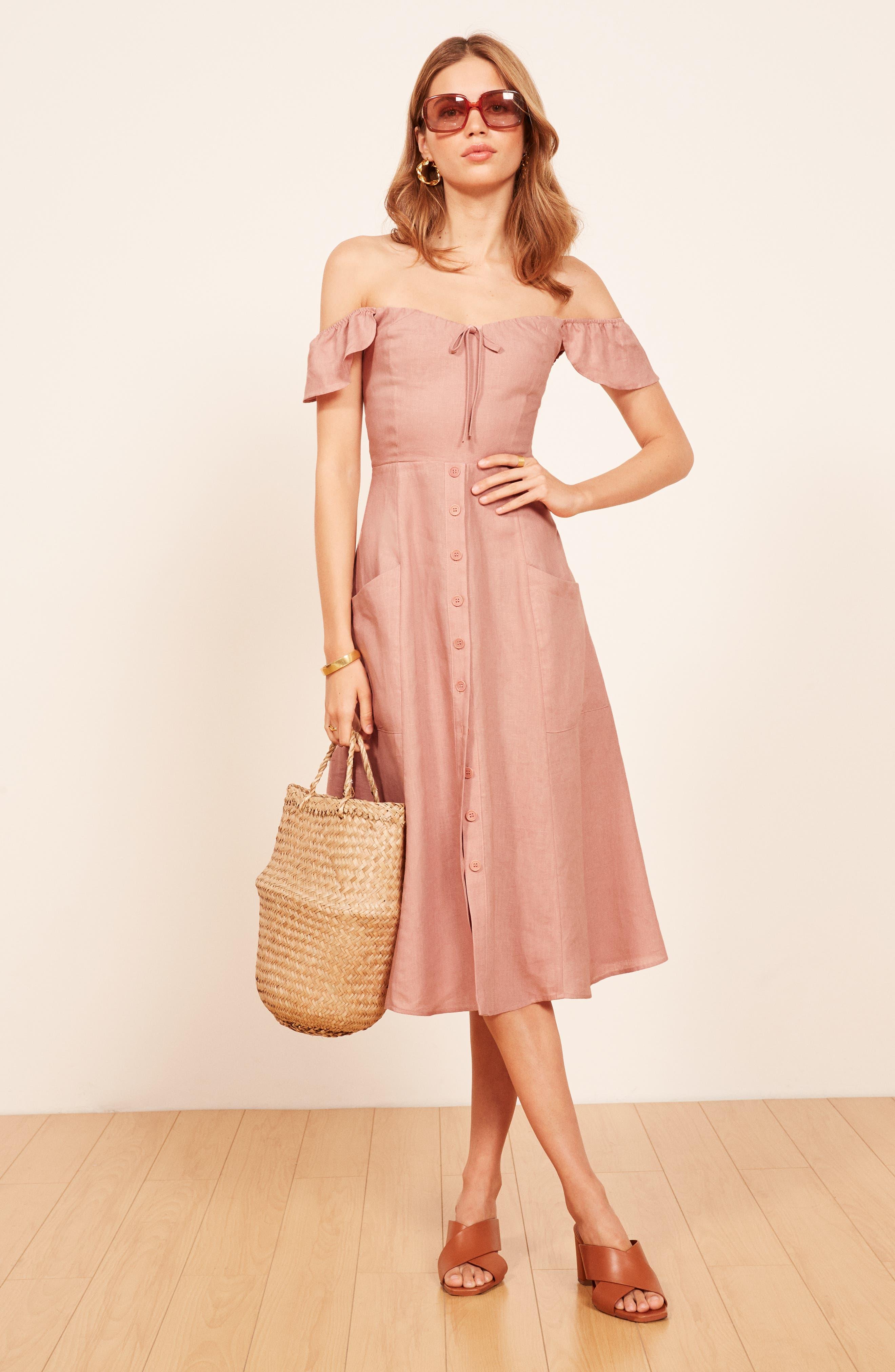 Francis Prairie A-Line Dress,                             Alternate thumbnail 7, color,                             650