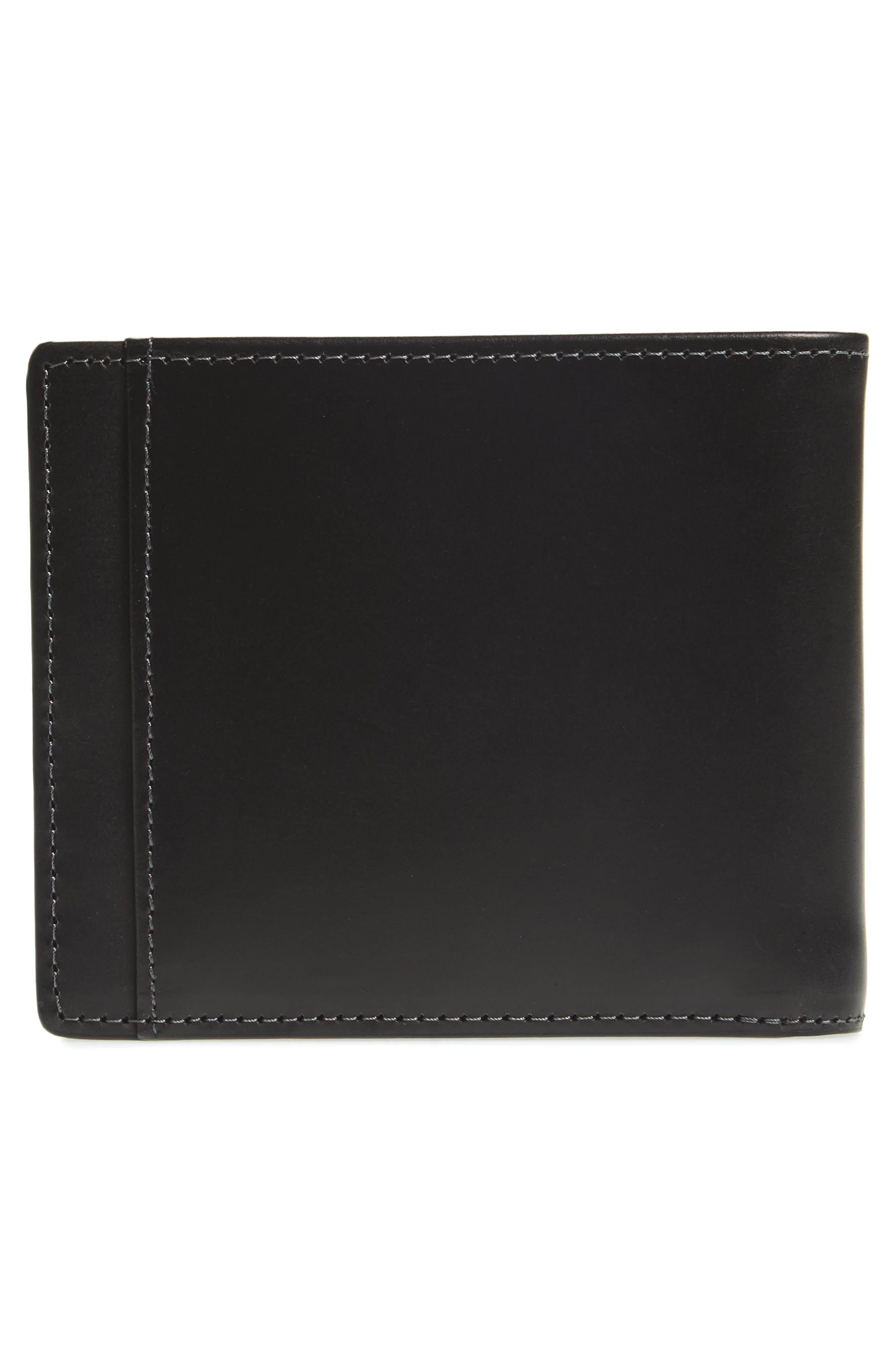 Wyatt RFID Leather Wallet,                             Alternate thumbnail 3, color,                             BLACK