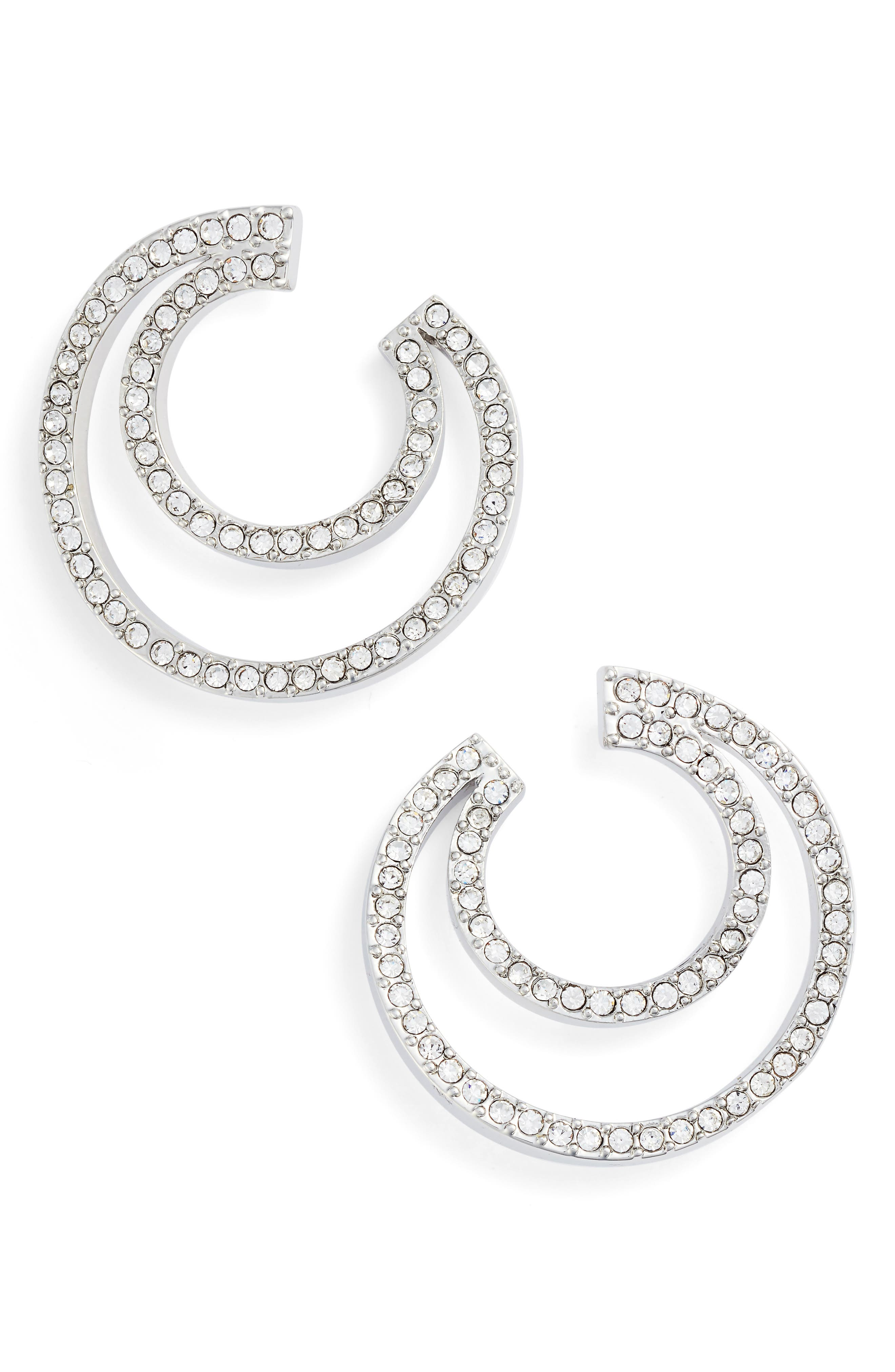 Curved Hoop Earrings,                             Main thumbnail 1, color,                             040