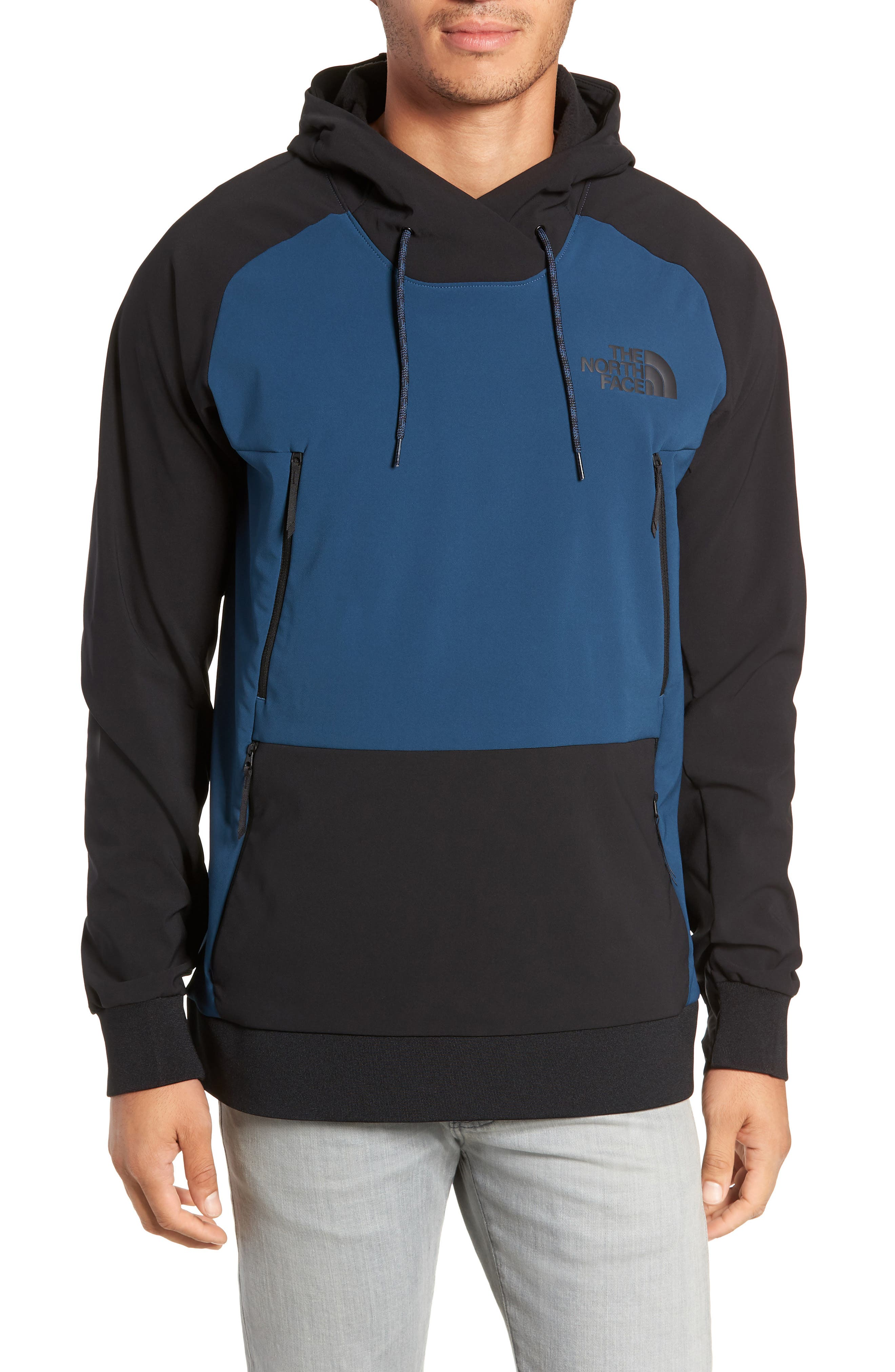 Tekno Pullover Hoodie,                             Main thumbnail 1, color,                             BLUE WING TEAL/ TNF BLACK