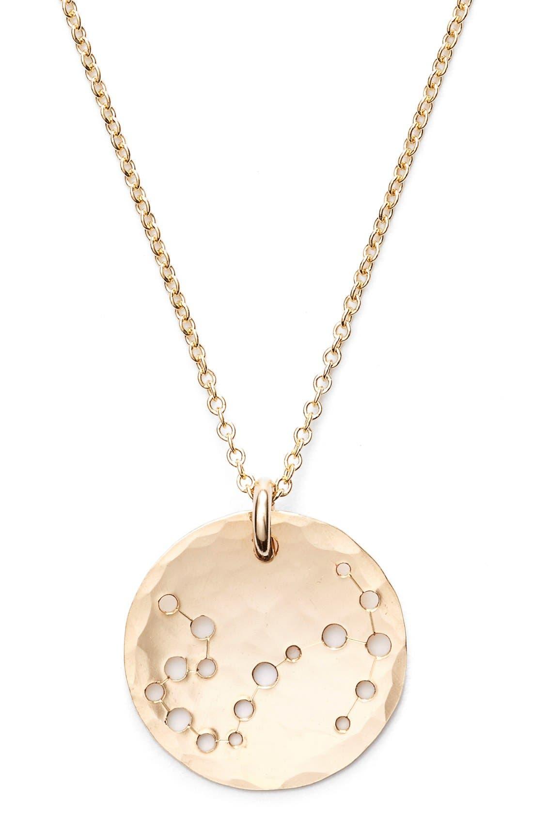 Ija 'Small Zodiac' 14k-Gold Fill Necklace,                             Alternate thumbnail 32, color,