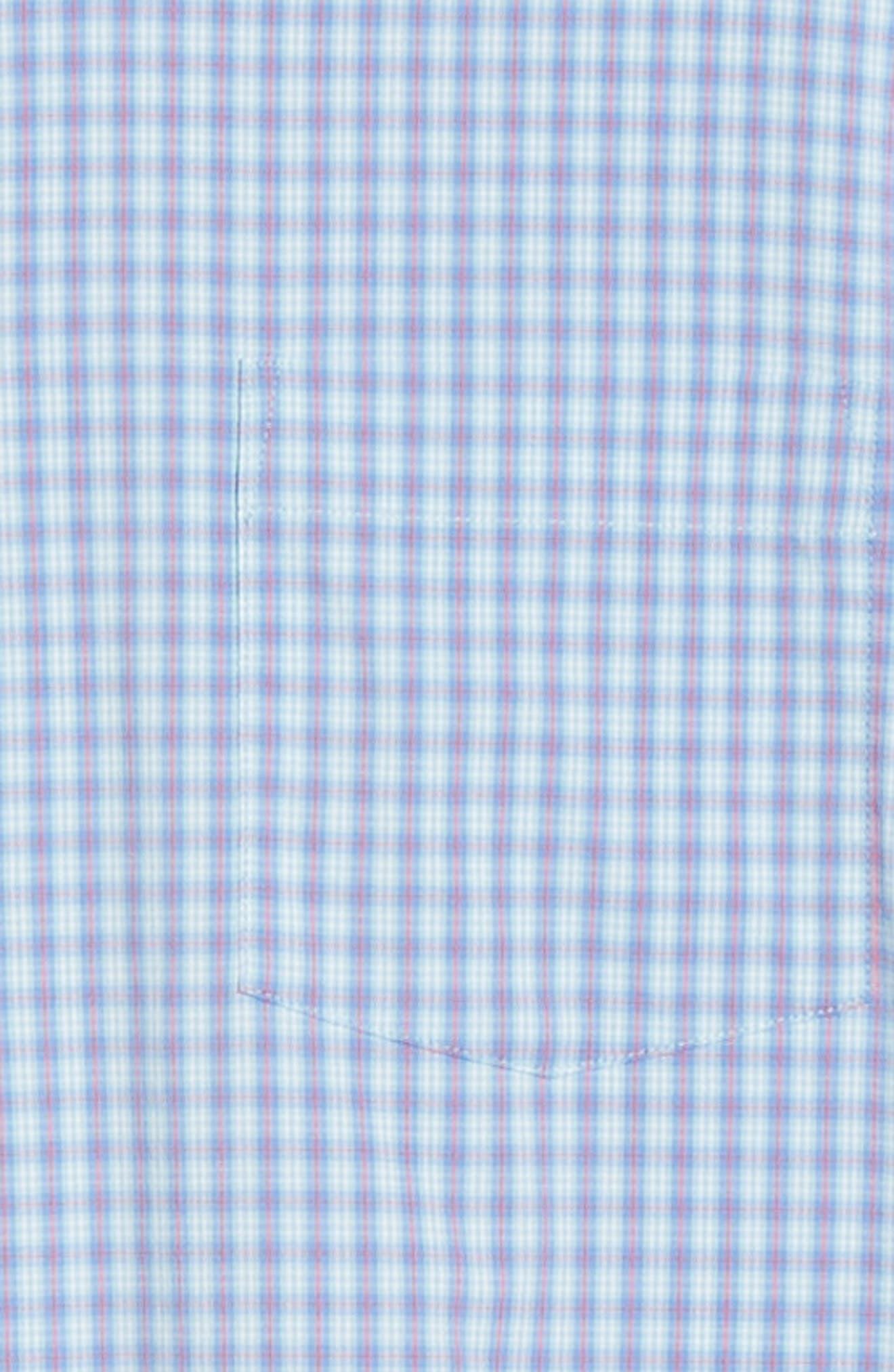 PETER MILLAR,                             Hawkins Plaid Performance Sport Shirt,                             Alternate thumbnail 6, color,                             VESSEL