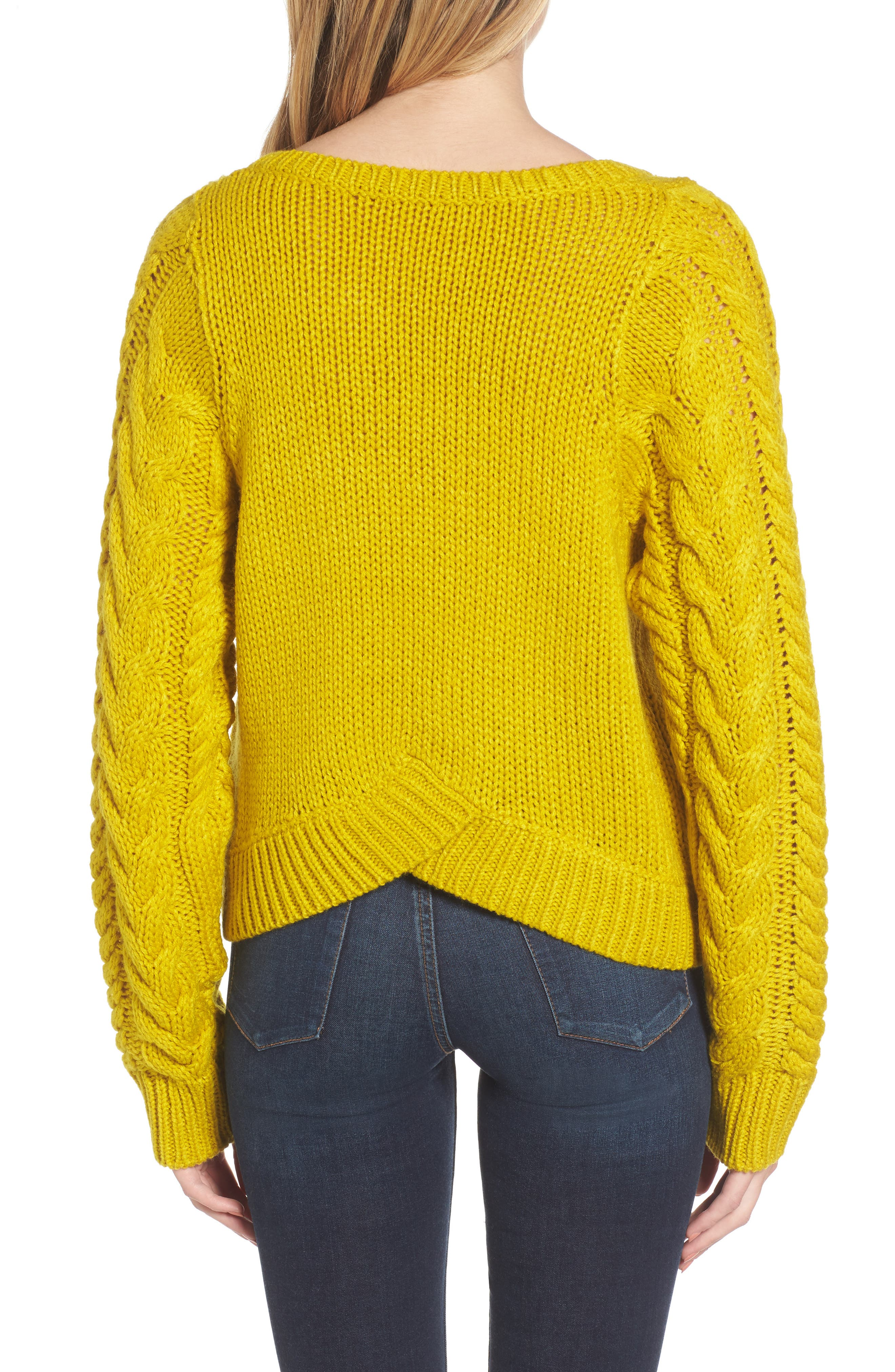 Cable Sleeve Pullover,                             Alternate thumbnail 4, color,