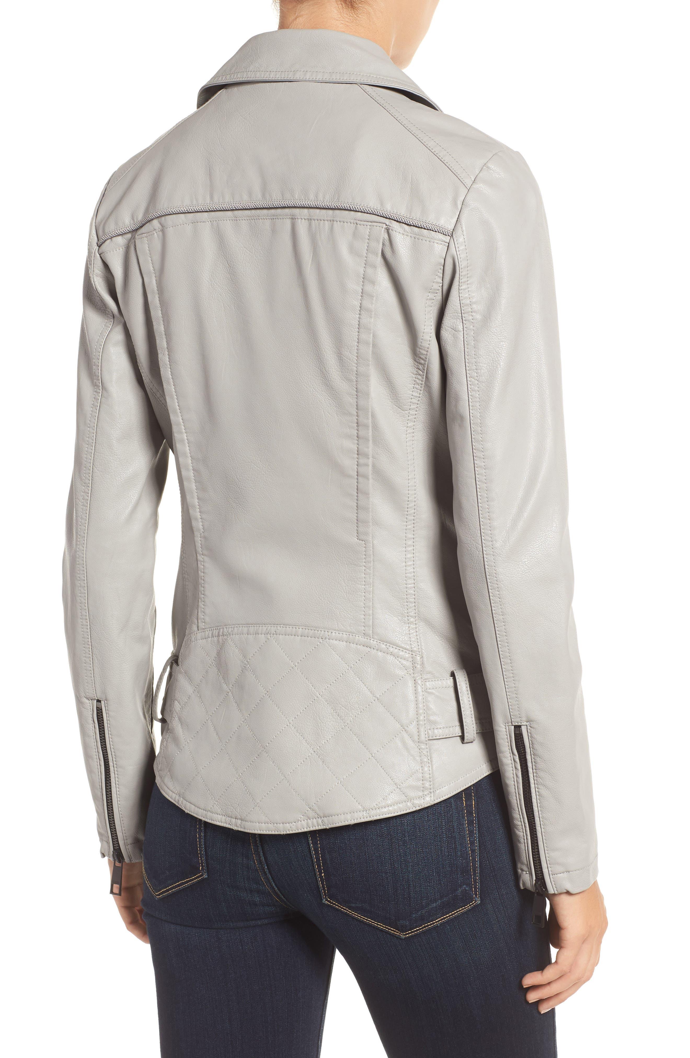 Faux Leather Moto Jacket,                             Alternate thumbnail 6, color,