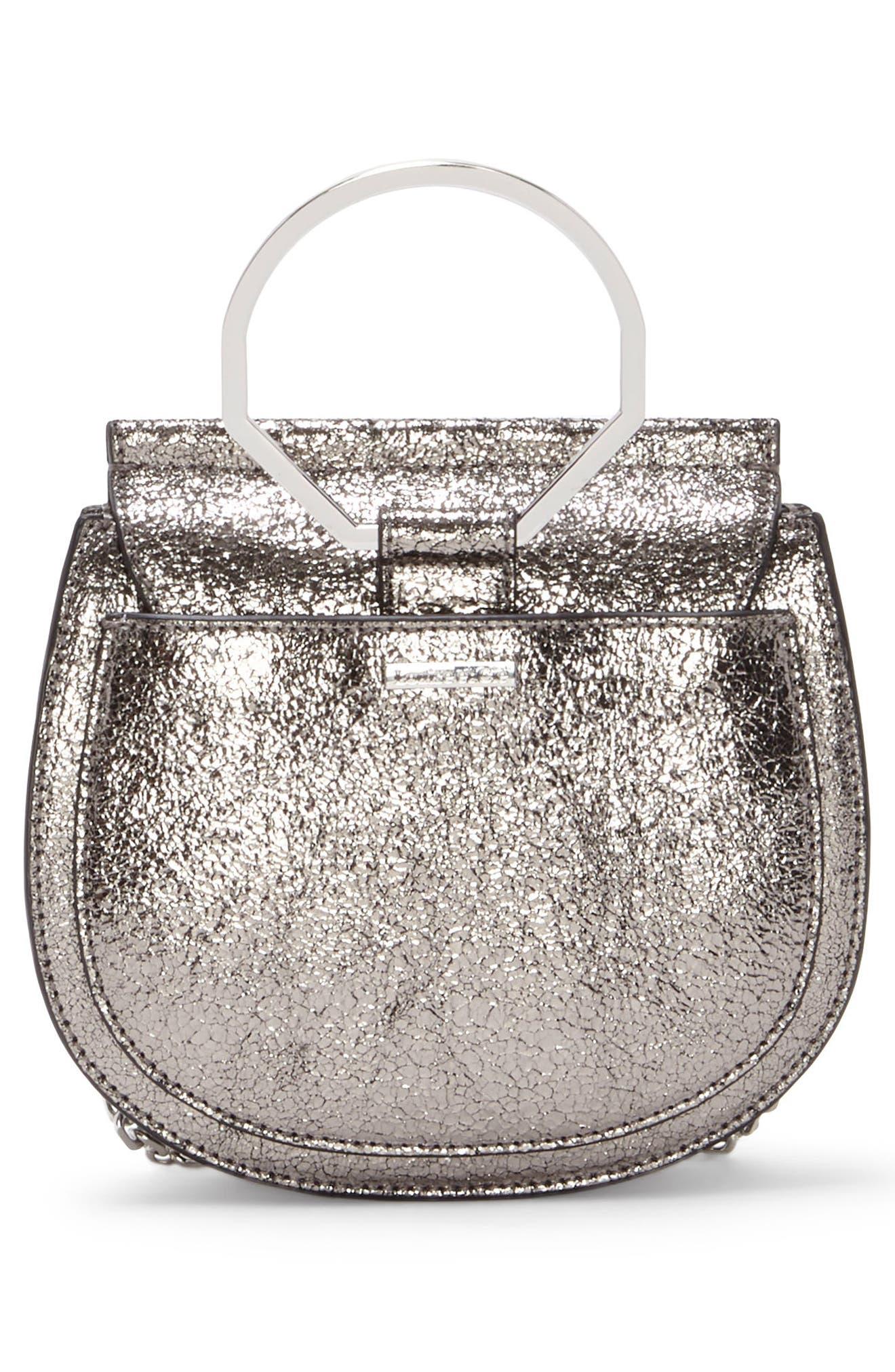 Kaea Metallic Leather Bracelet Bag,                             Alternate thumbnail 2, color,                             040