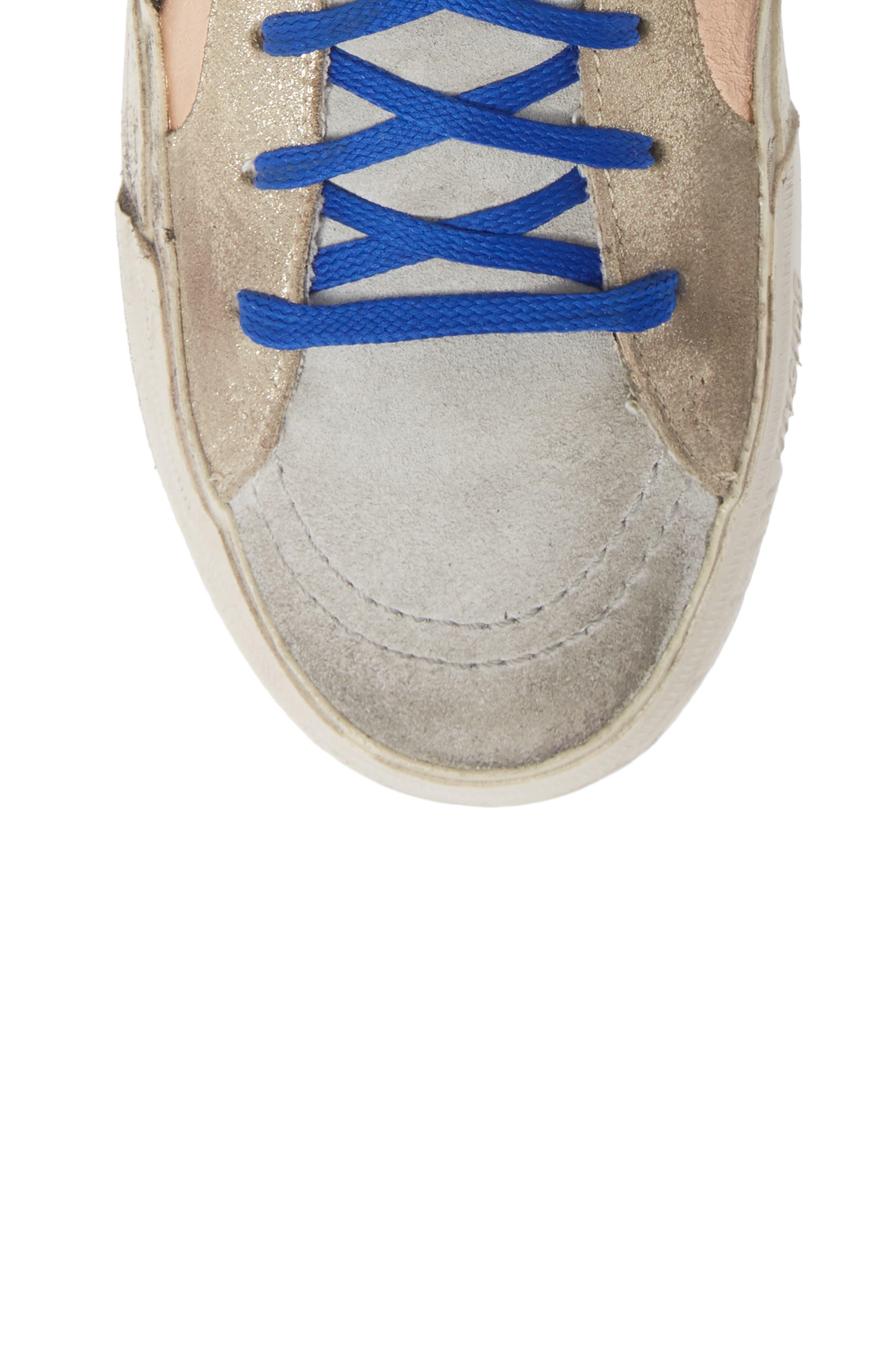 High Top Sneaker,                             Alternate thumbnail 5, color,                             ROSE GOLD/ GREY