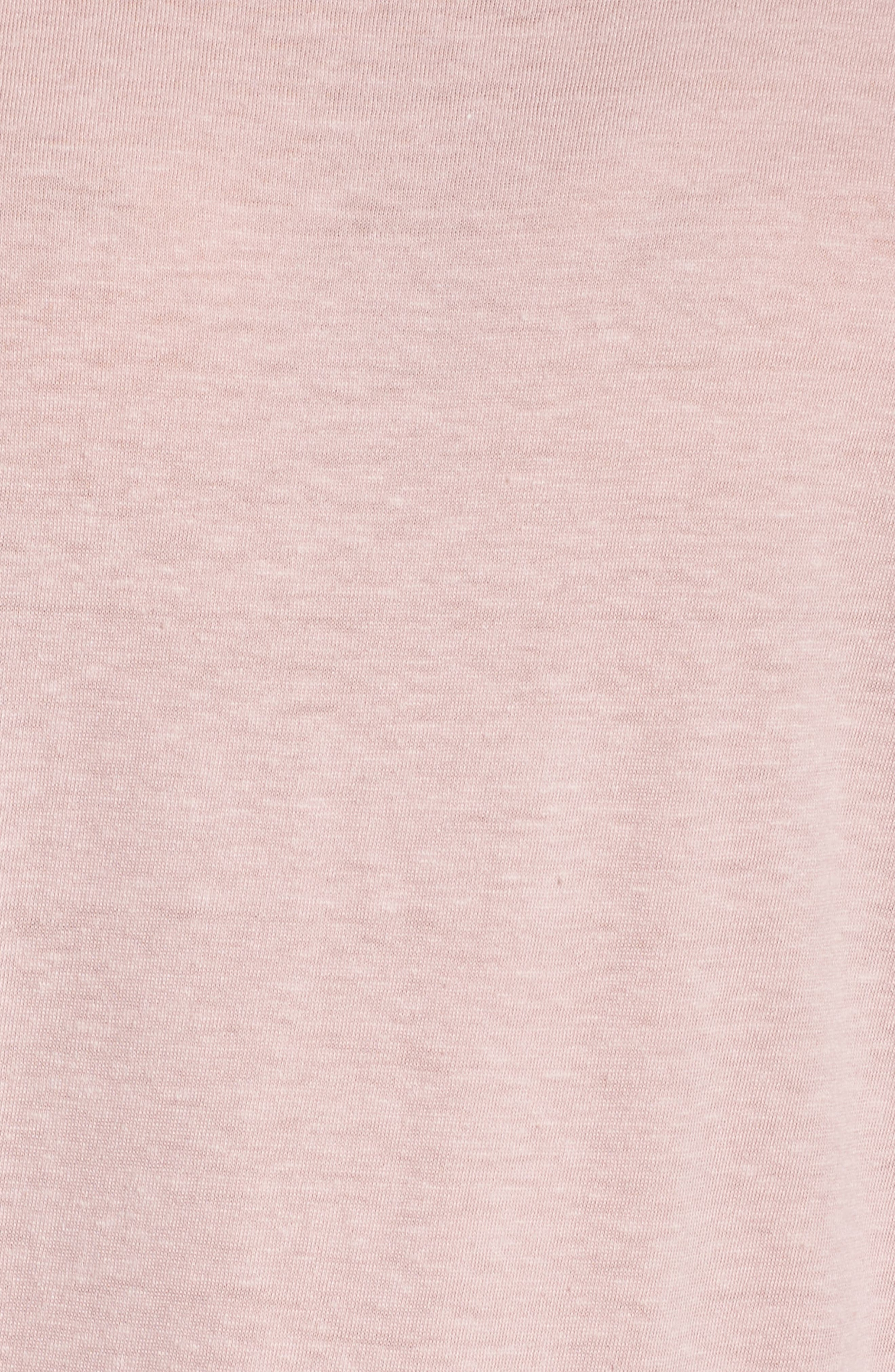 Heather Knit Slouchy Tee,                             Alternate thumbnail 5, color,                             CASHMERE ROSE