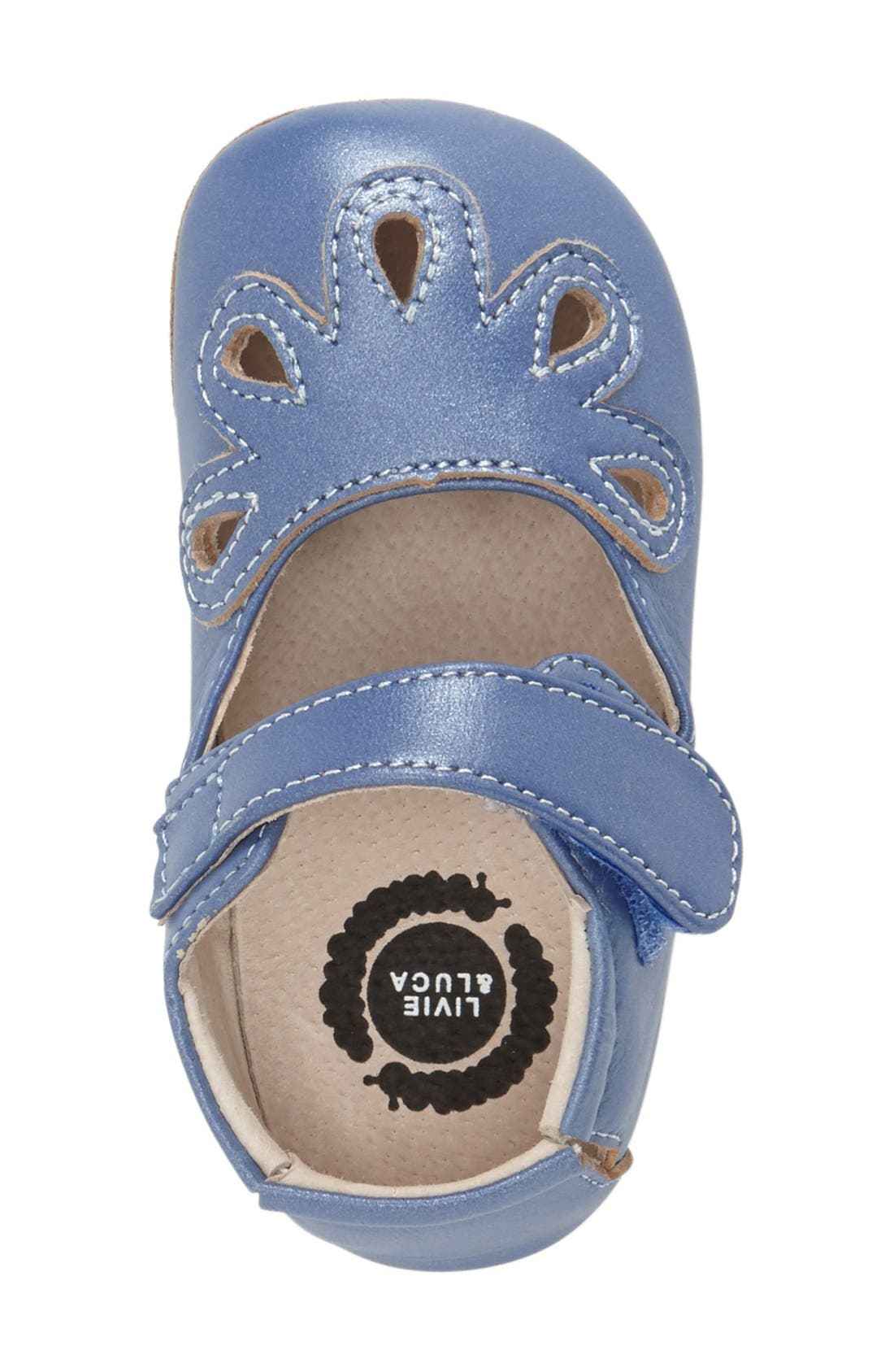 'Petal' Mary Jane Crib Shoe,                             Alternate thumbnail 11, color,