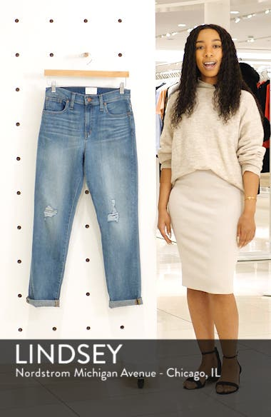 Arden Ripped High Waist Boyfriend Jeans, sales video thumbnail