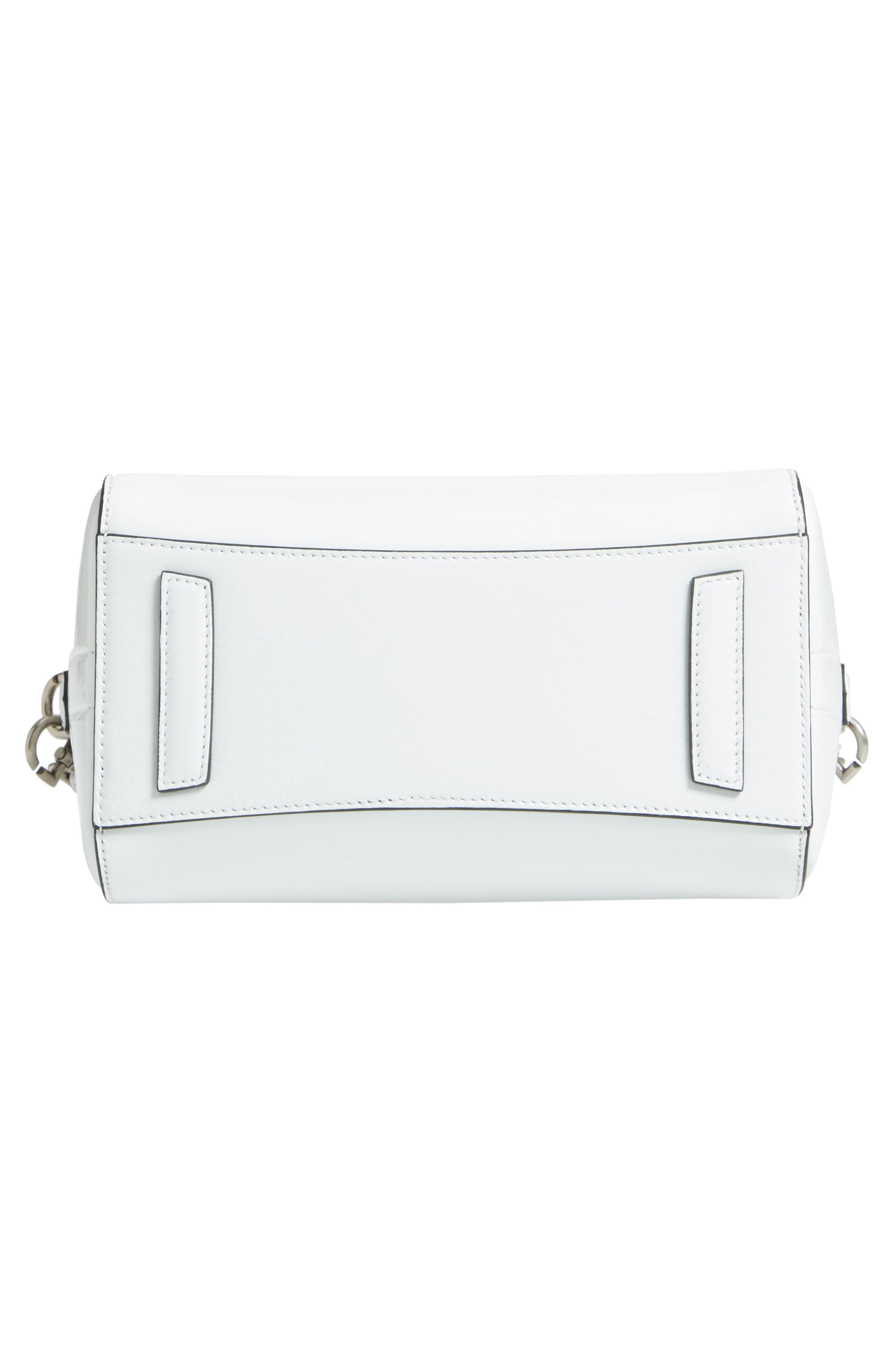 Mini Antigona Patent Leather Satchel,                             Alternate thumbnail 6, color,                             WHITE