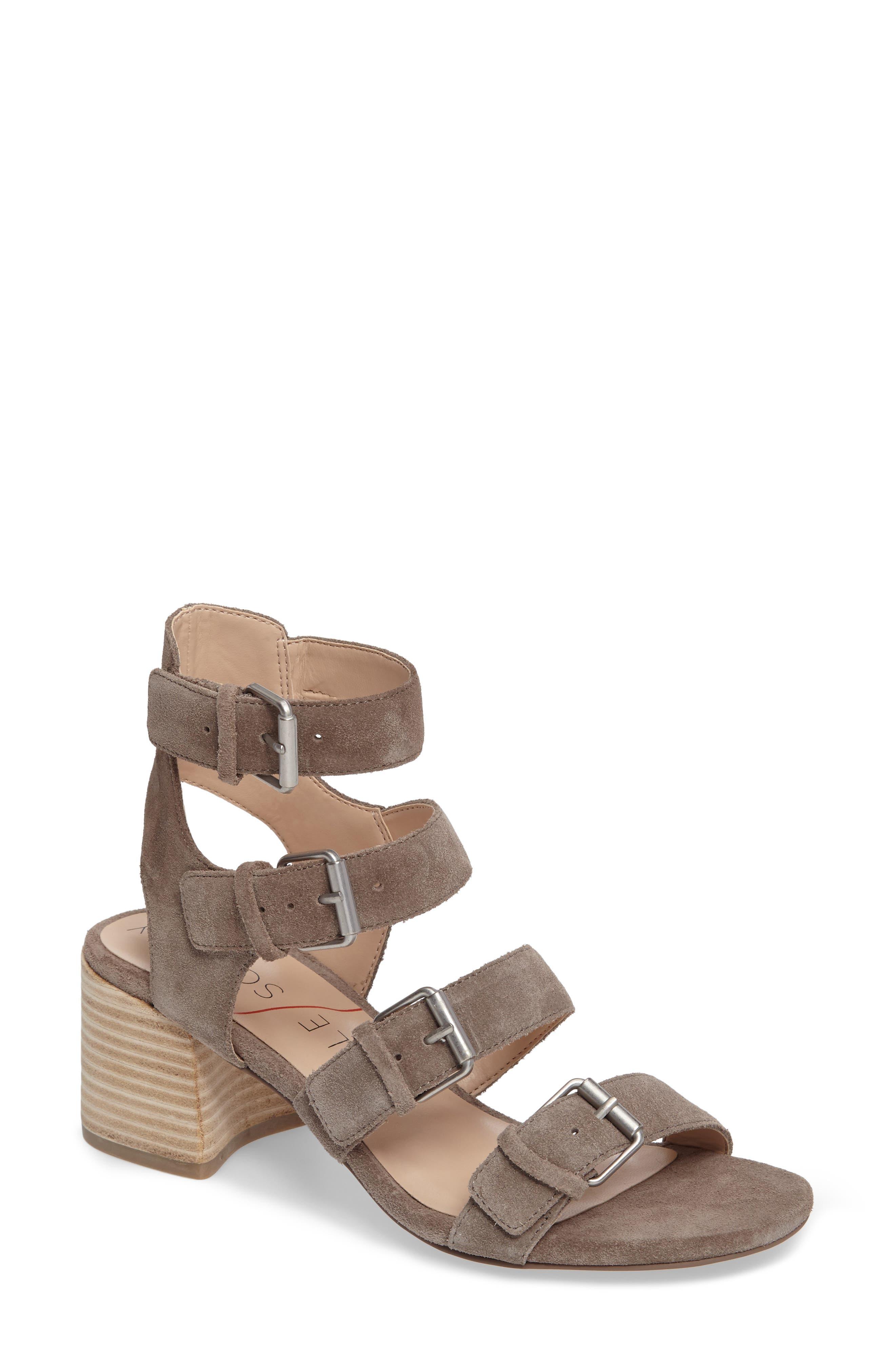 Culver Block Heel Sandal,                             Main thumbnail 1, color,                             MUSHROOM SUEDE