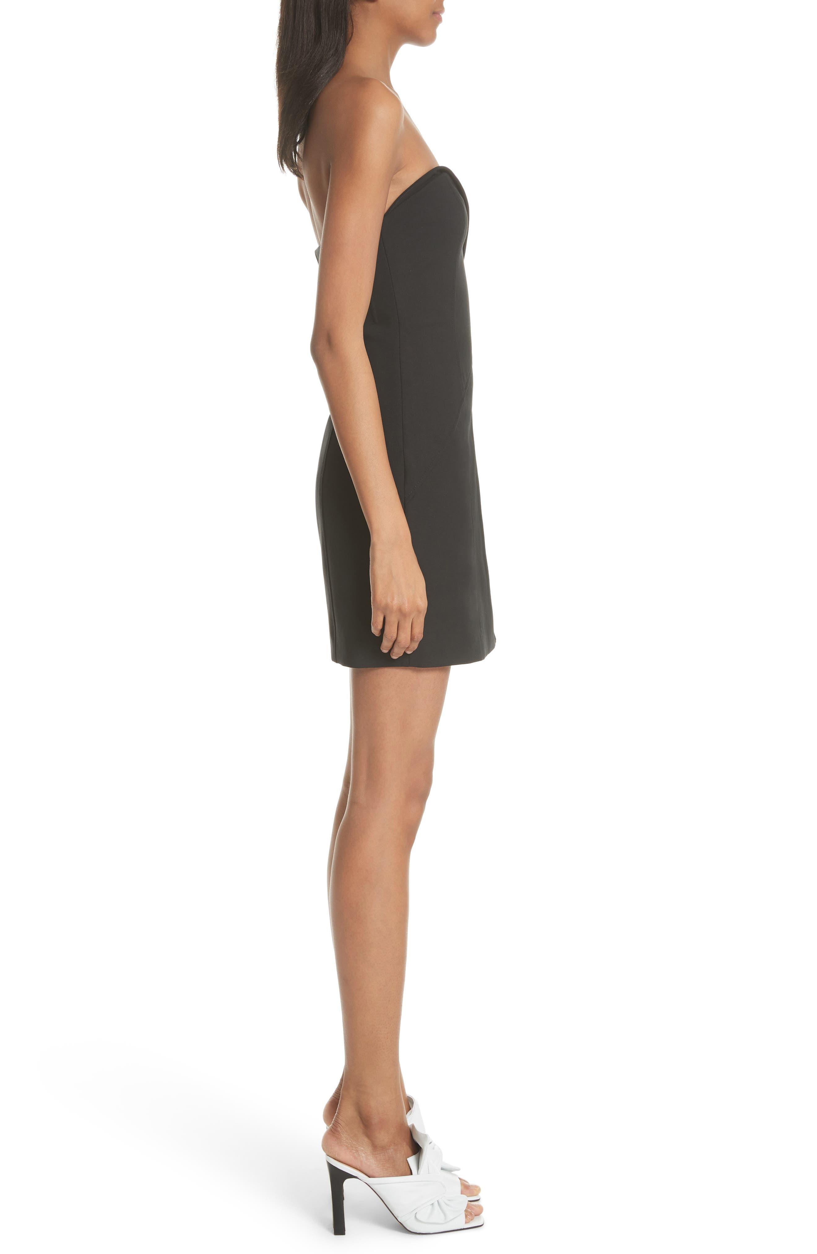 Tristen Strapless Dress,                             Alternate thumbnail 3, color,                             001