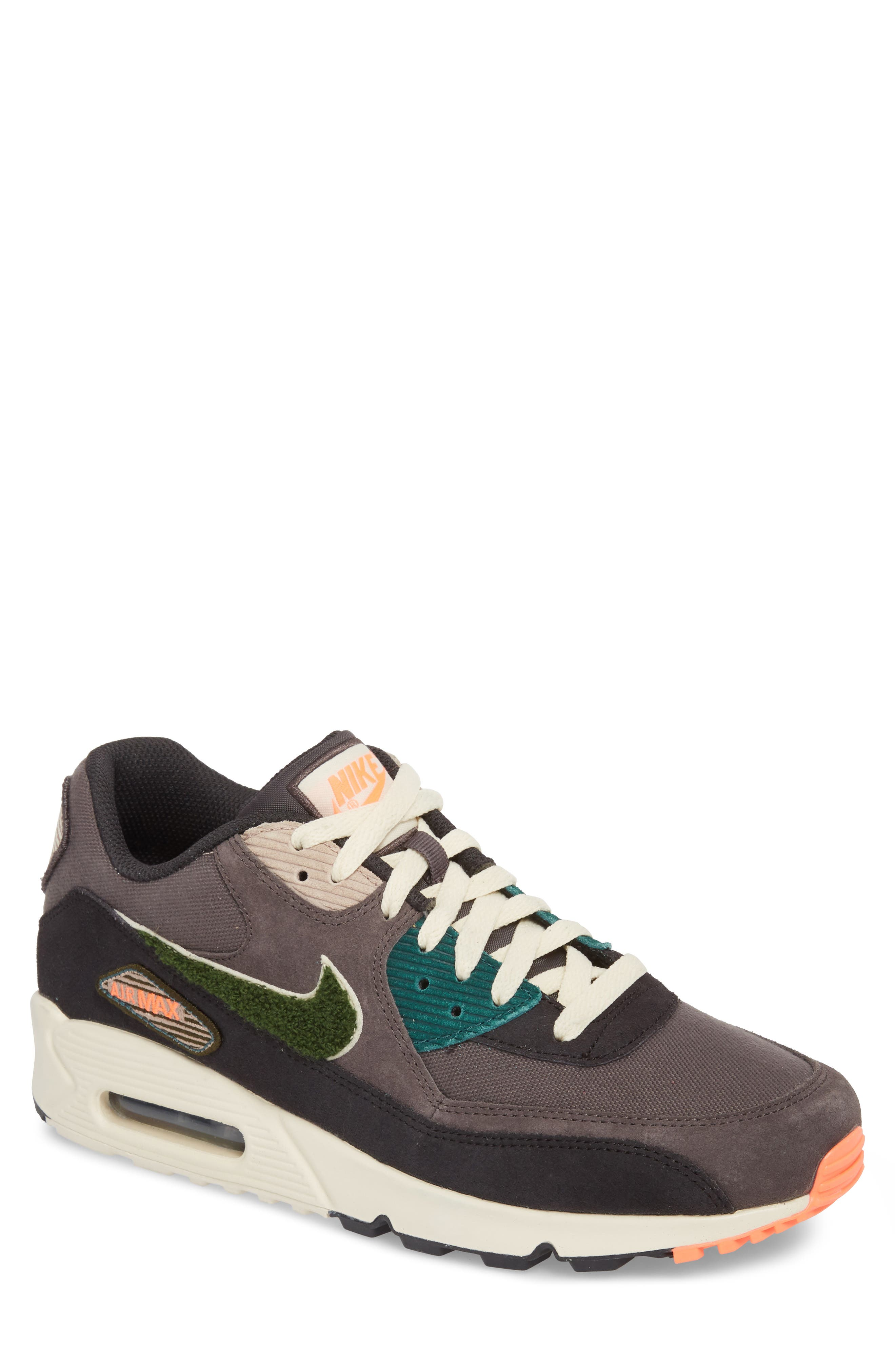 Air Max 90 Premium Sneaker,                             Main thumbnail 1, color,