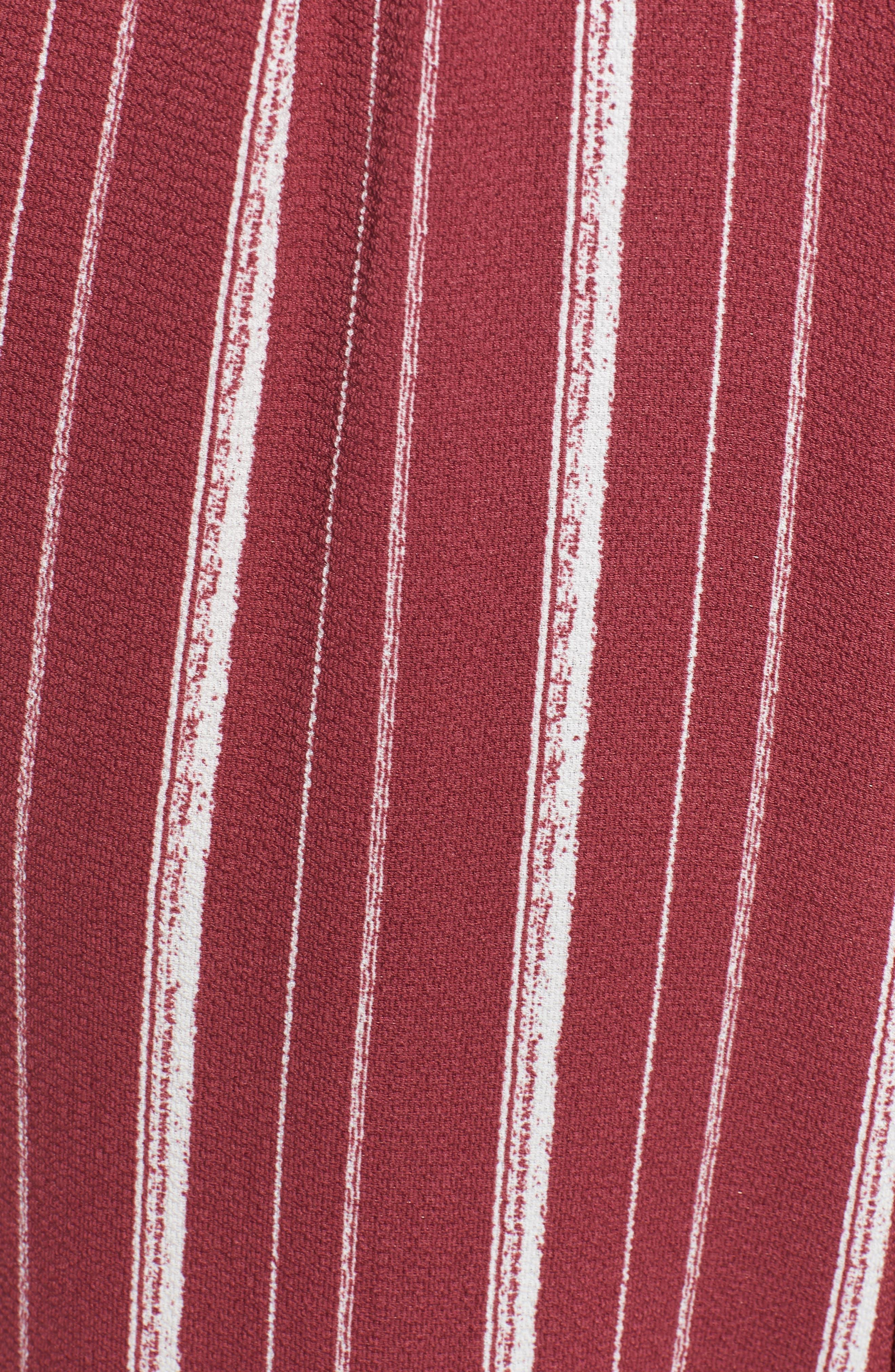 Stripe Jumpsuit,                             Alternate thumbnail 6, color,                             WINE