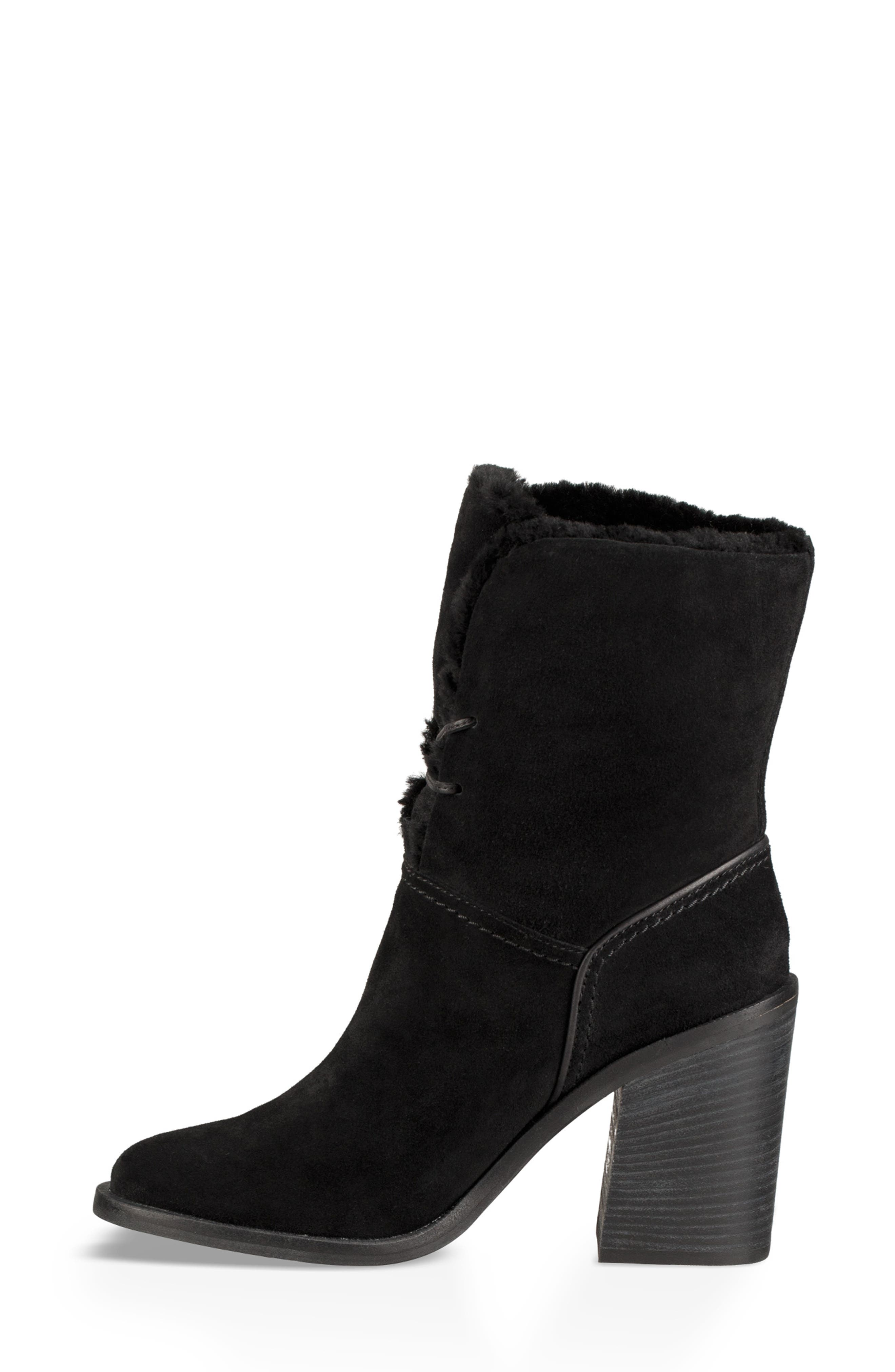 Jerene Genuine Shearling Boot,                             Alternate thumbnail 7, color,                             BLACK