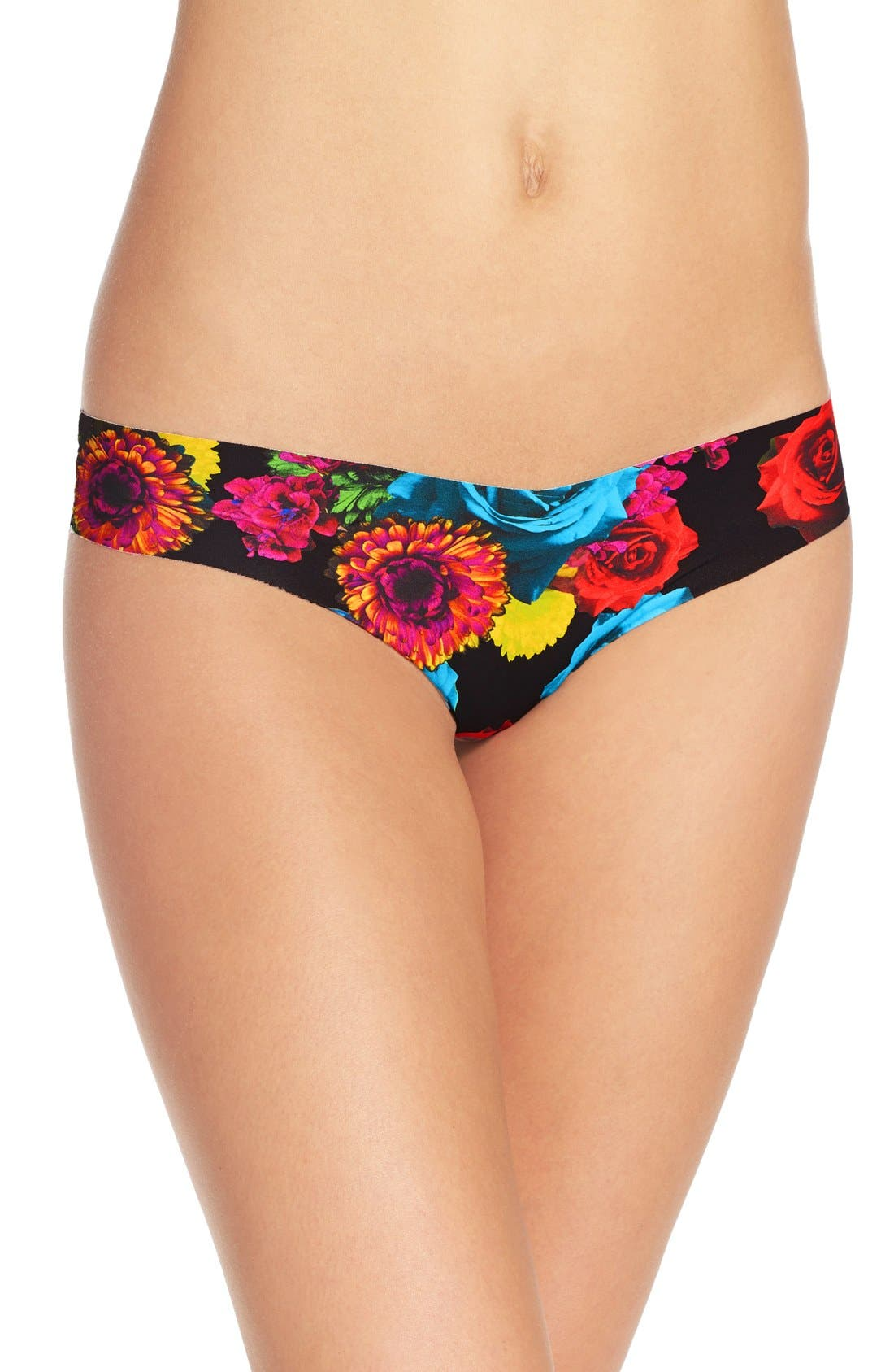 Print Microfiber Thong,                             Main thumbnail 36, color,