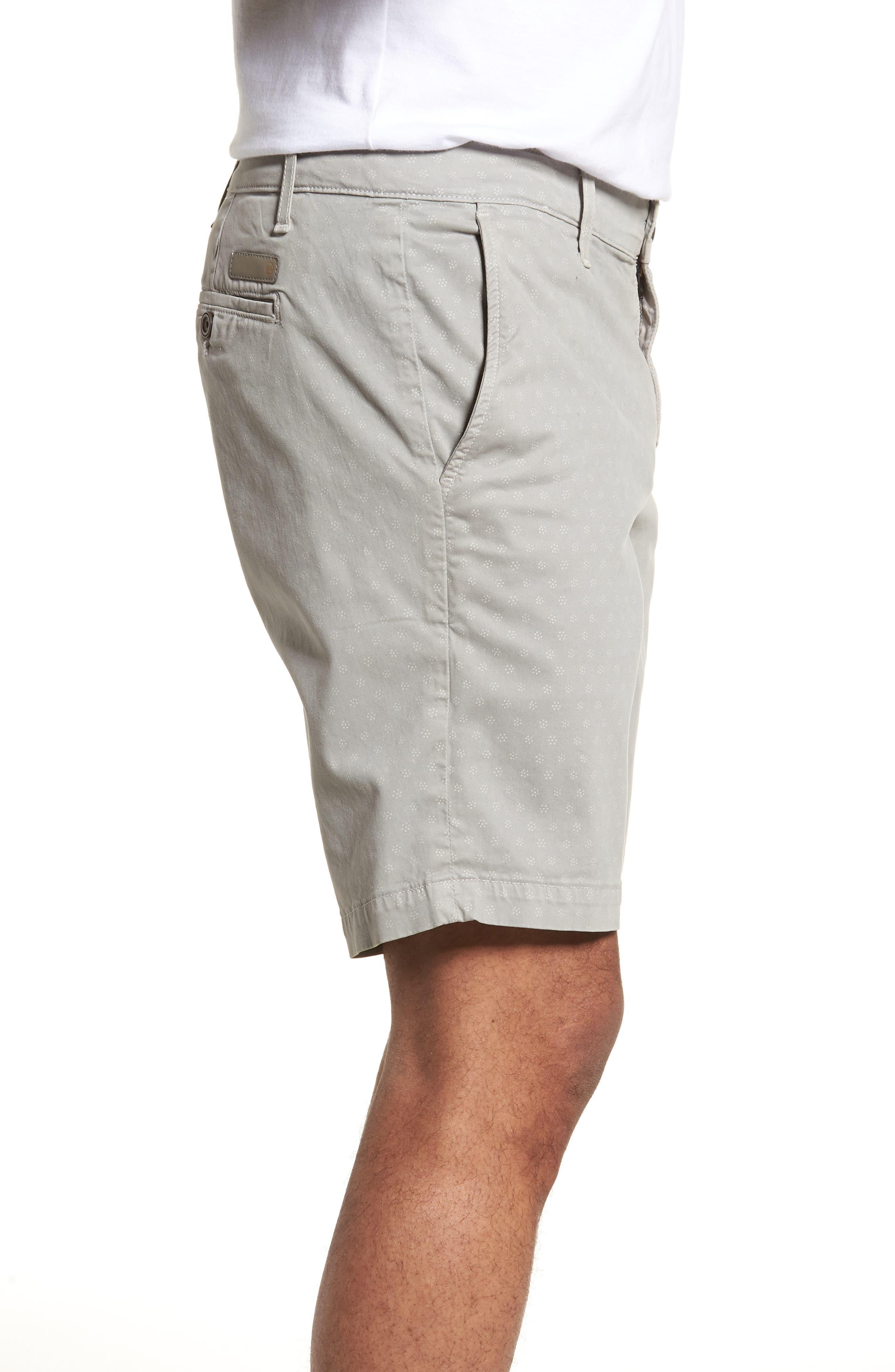 Flora Print Slim Fit Shorts,                             Alternate thumbnail 3, color,                             020