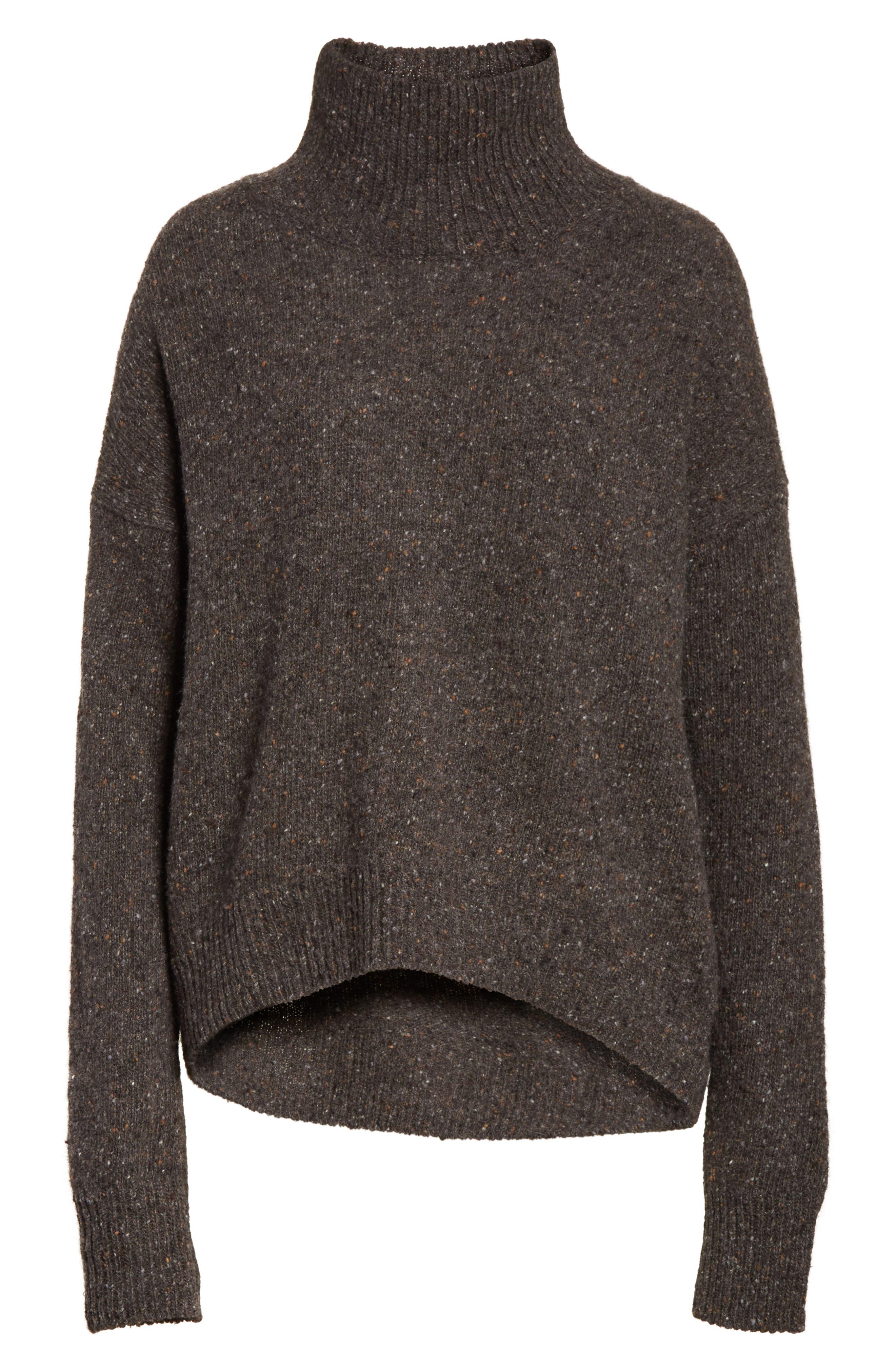 Cashmere Turtleneck Sweater,                             Alternate thumbnail 6, color,                             060