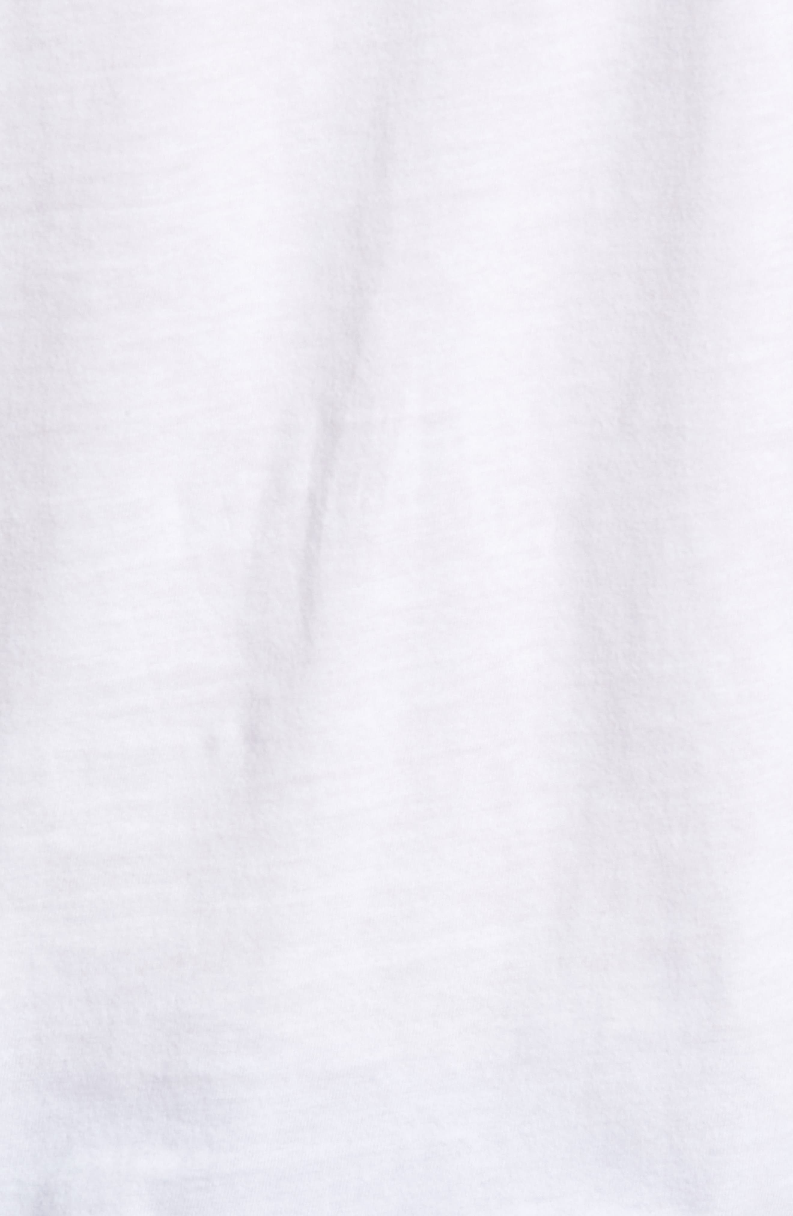 Essential Regular Fit T-Shirt,                             Alternate thumbnail 5, color,                             WHITE