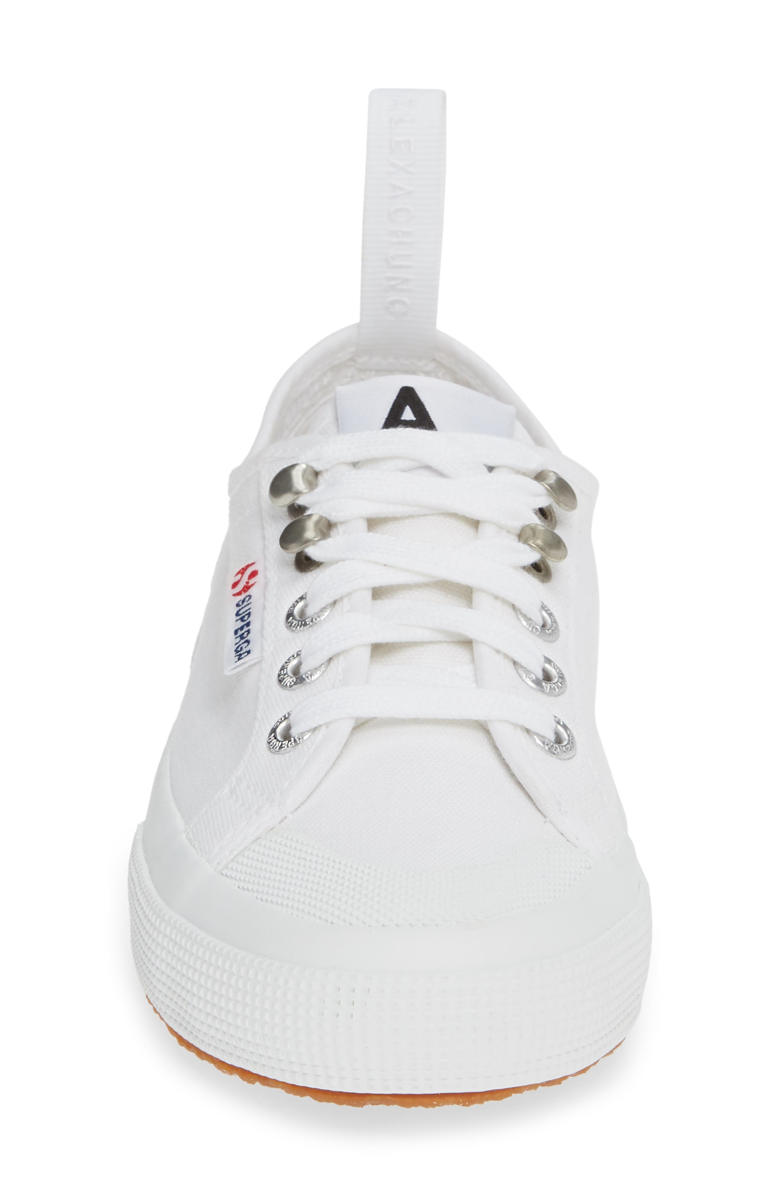 x Alexa Chung 2294 Cothookw Low Top Sneaker,                             Alternate thumbnail 4, color,                             WHITE