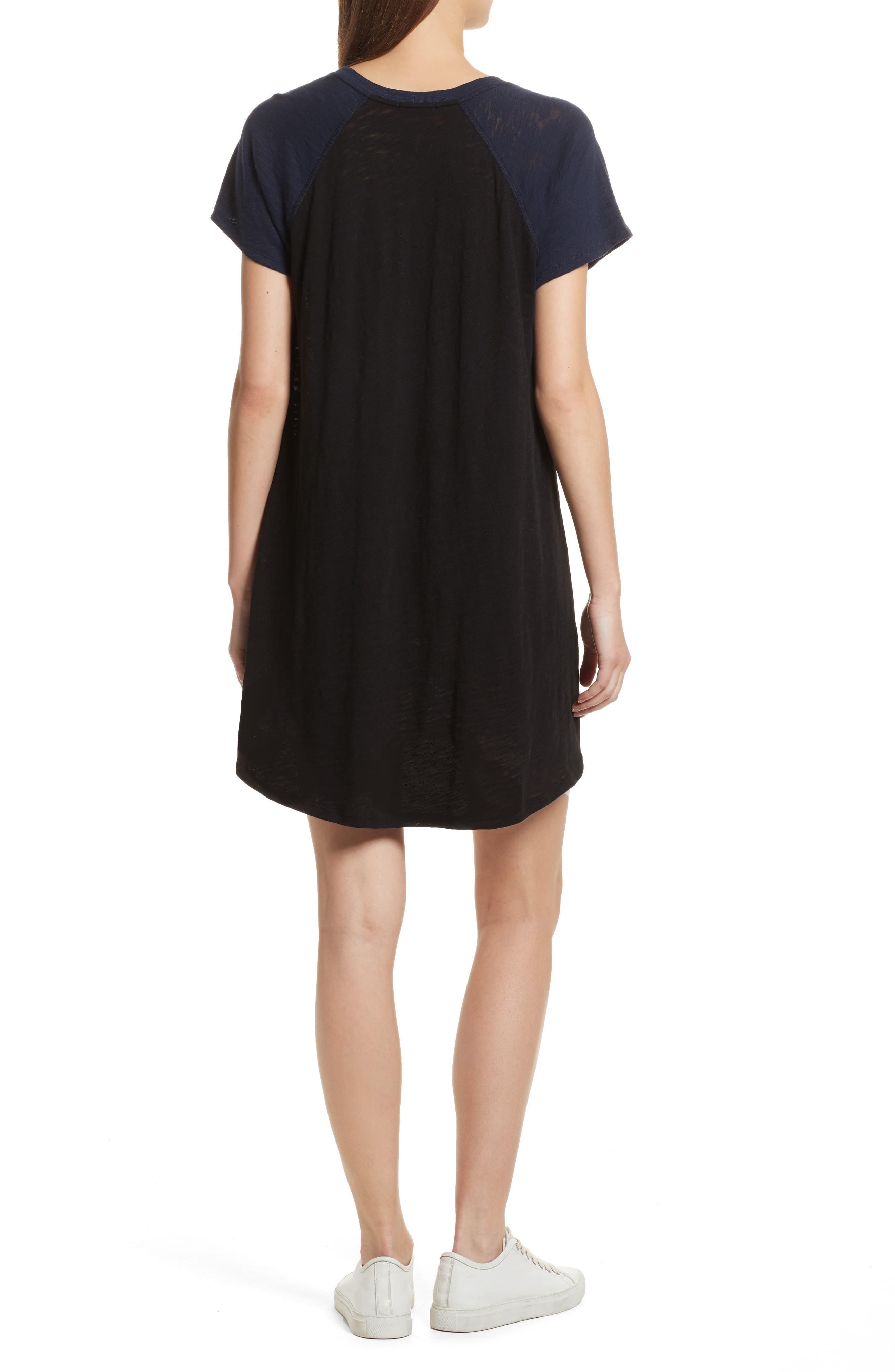 Slub Cotton Baseball T-Shirt Dress,                             Alternate thumbnail 2, color,                             400