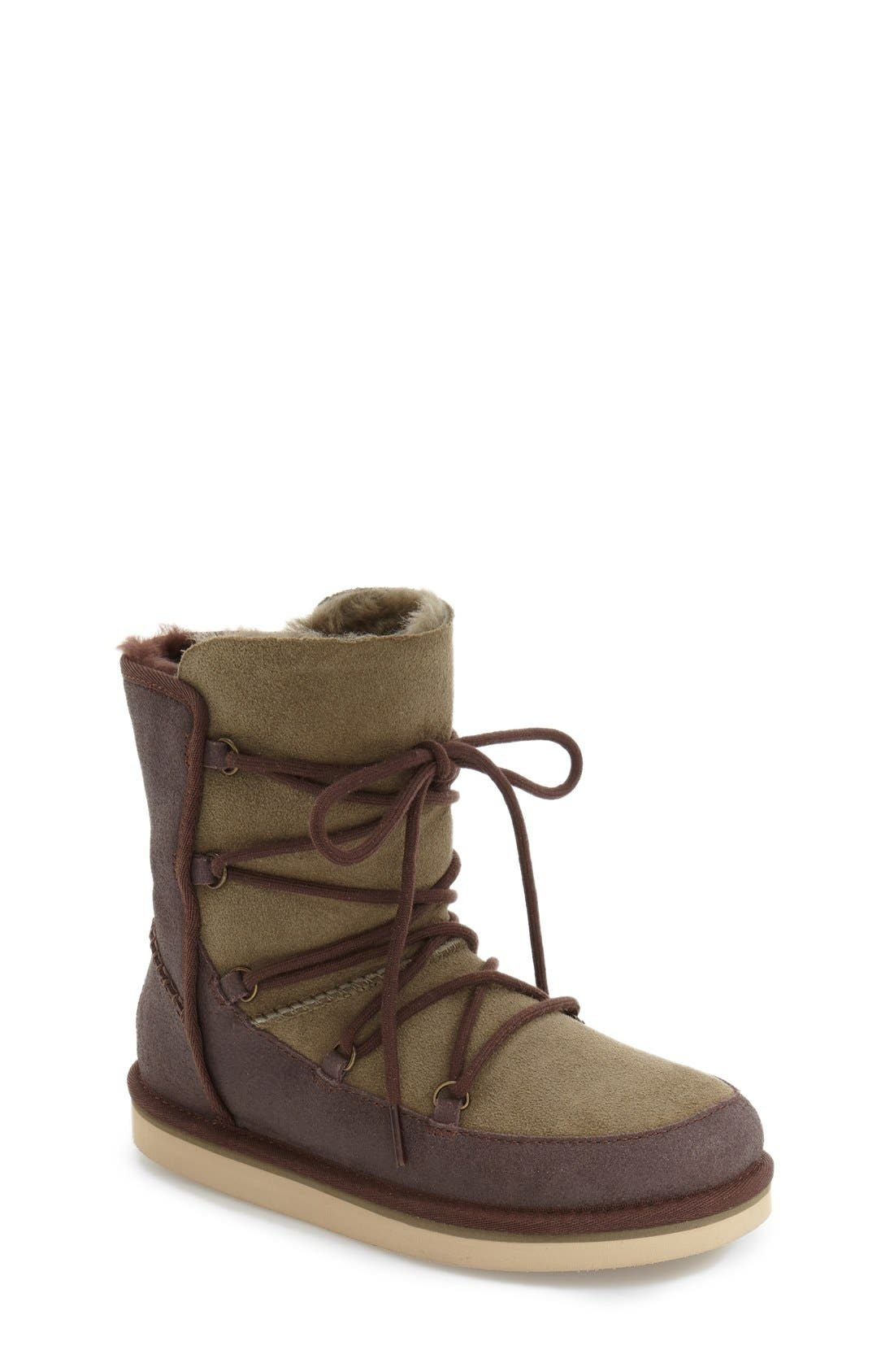 Eliss Water Resistant Suede Boot,                             Main thumbnail 2, color,