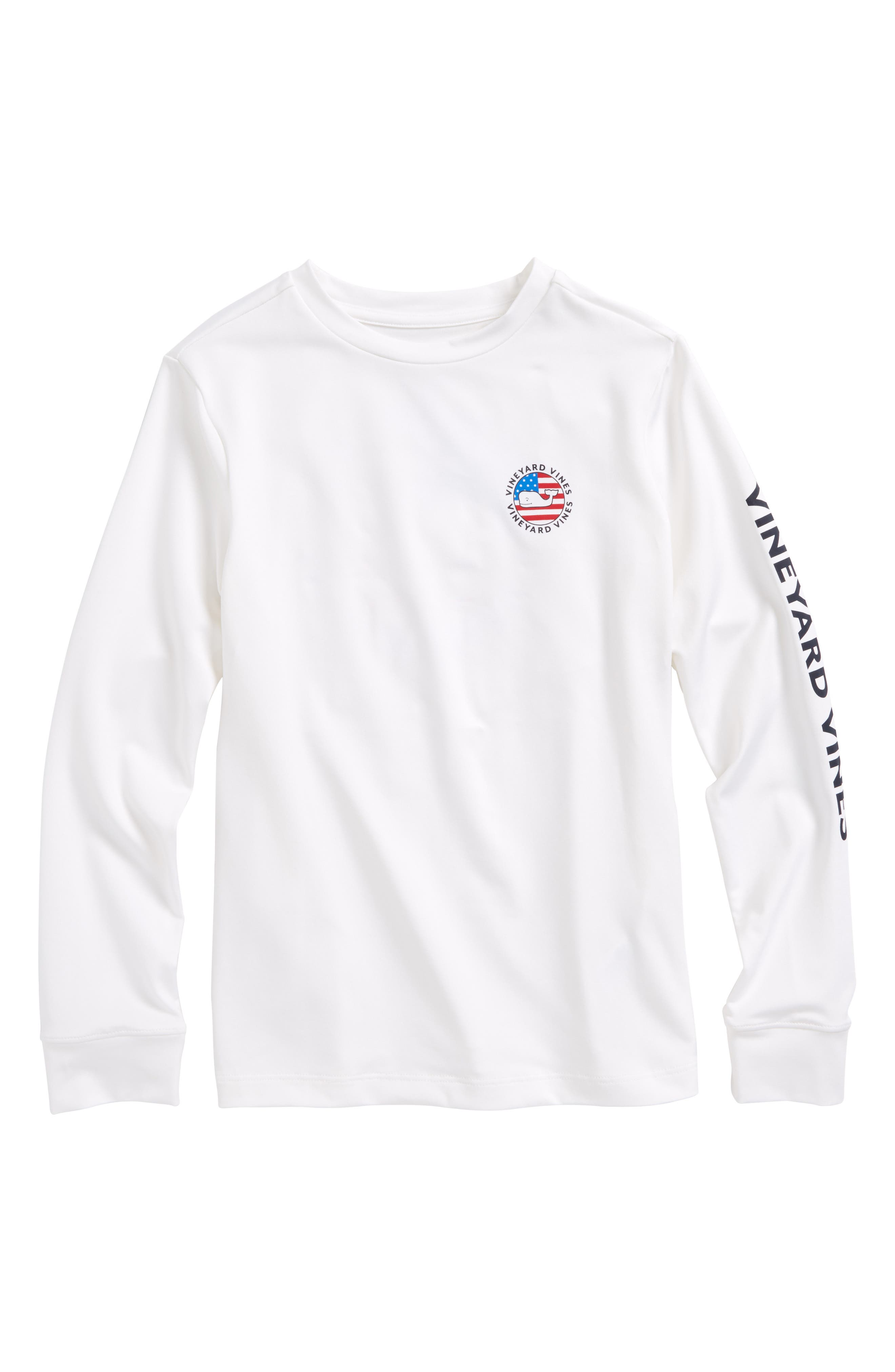 Performance Patriot Dot T-Shirt,                         Main,                         color, 100