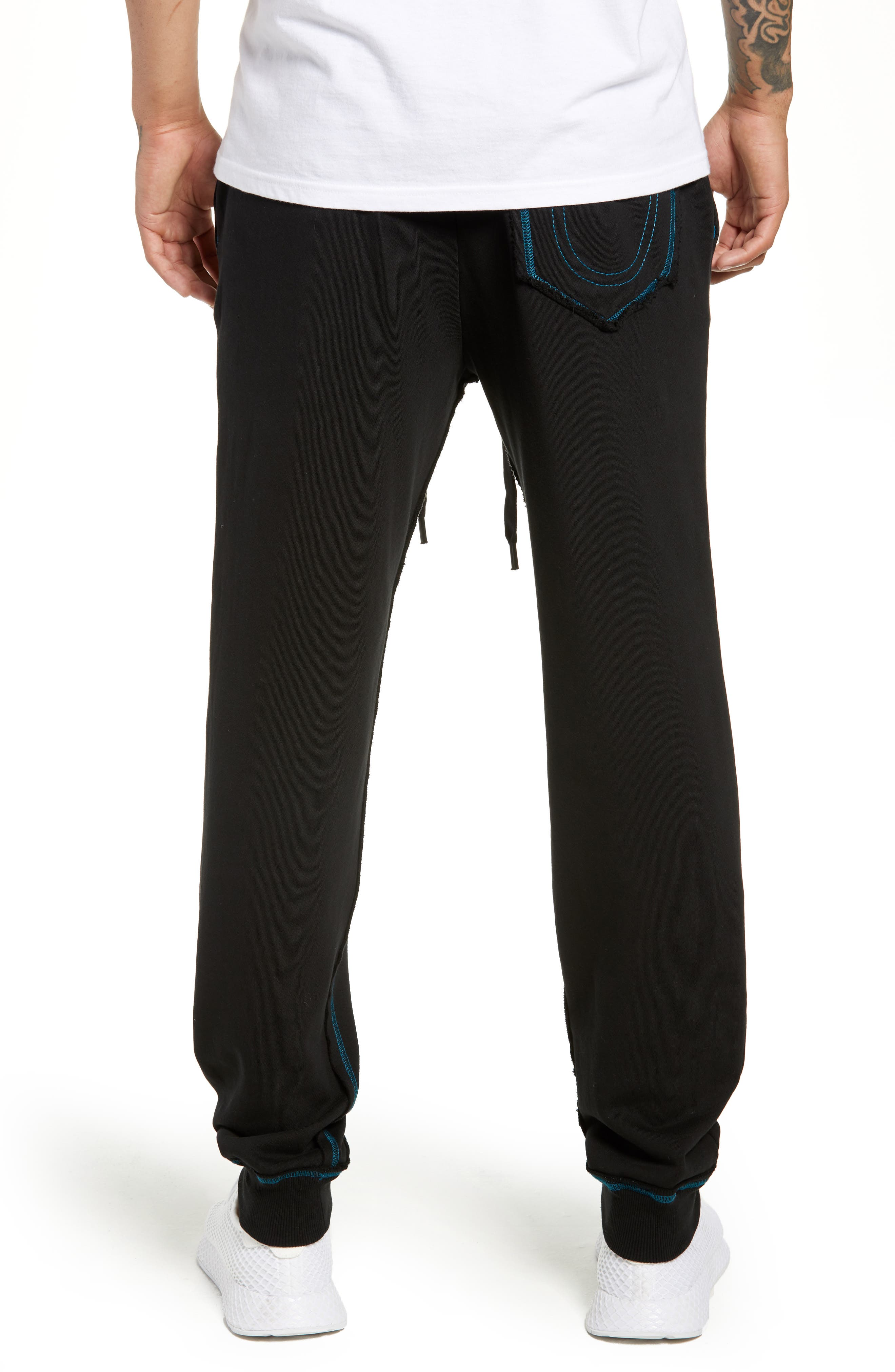 Stained Glass Logo Sweatpants,                             Alternate thumbnail 2, color,                             TRUE BLACK