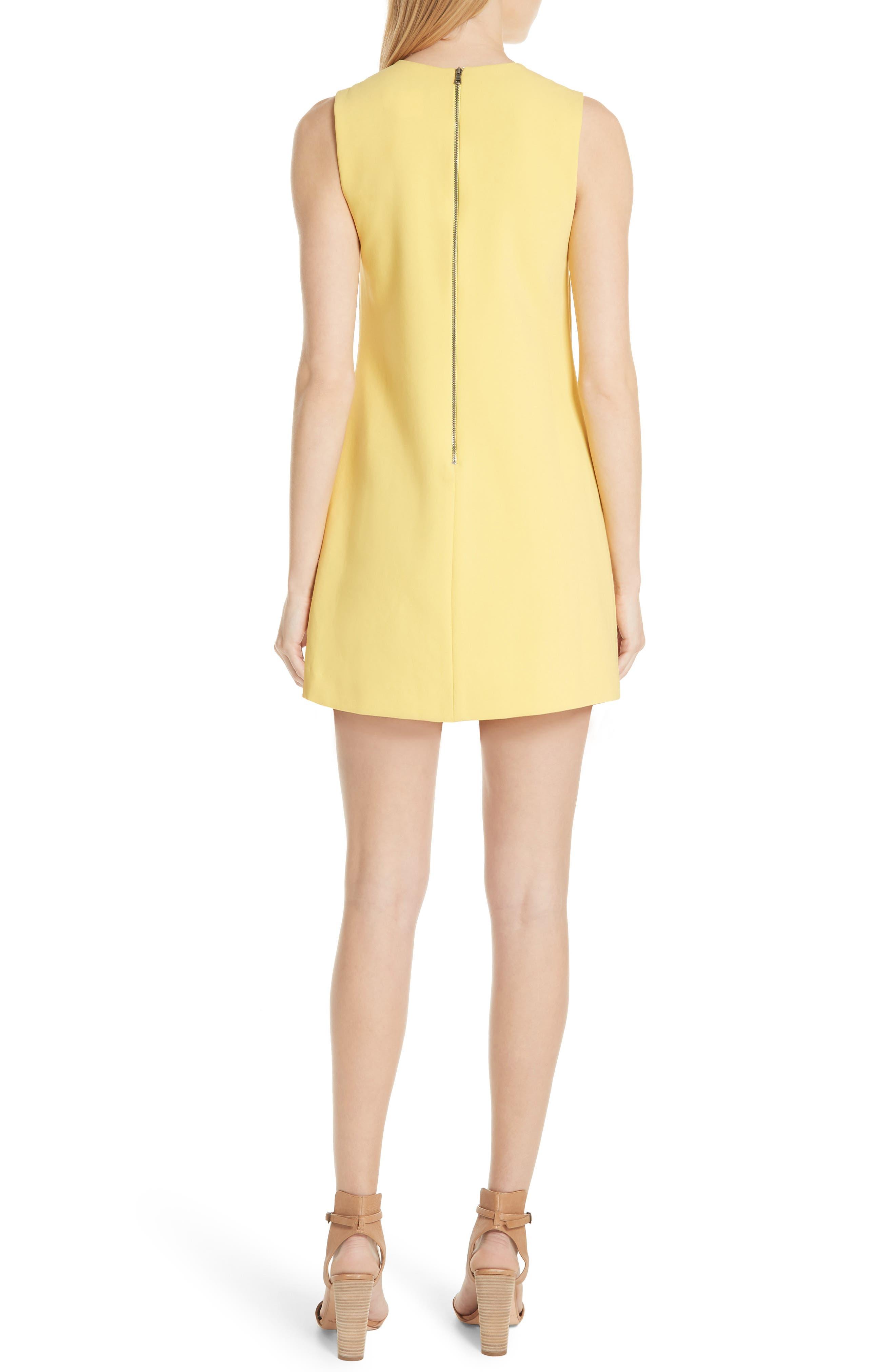Coley A-Line Dress,                             Alternate thumbnail 2, color,                             LEMON
