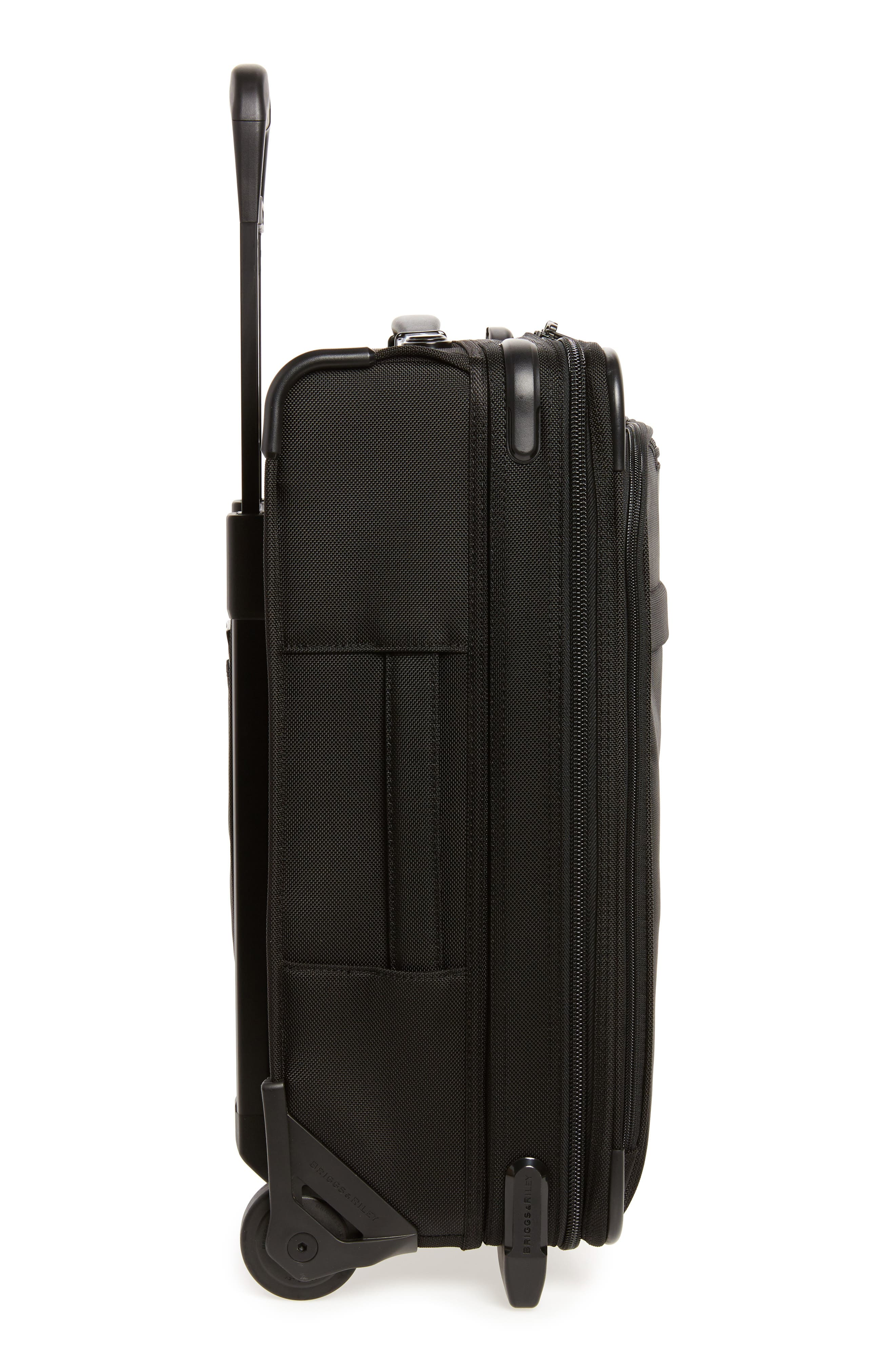 Baseline International 22-Inch Expandable Rolling Carry-On,                             Alternate thumbnail 3, color,                             BLACK